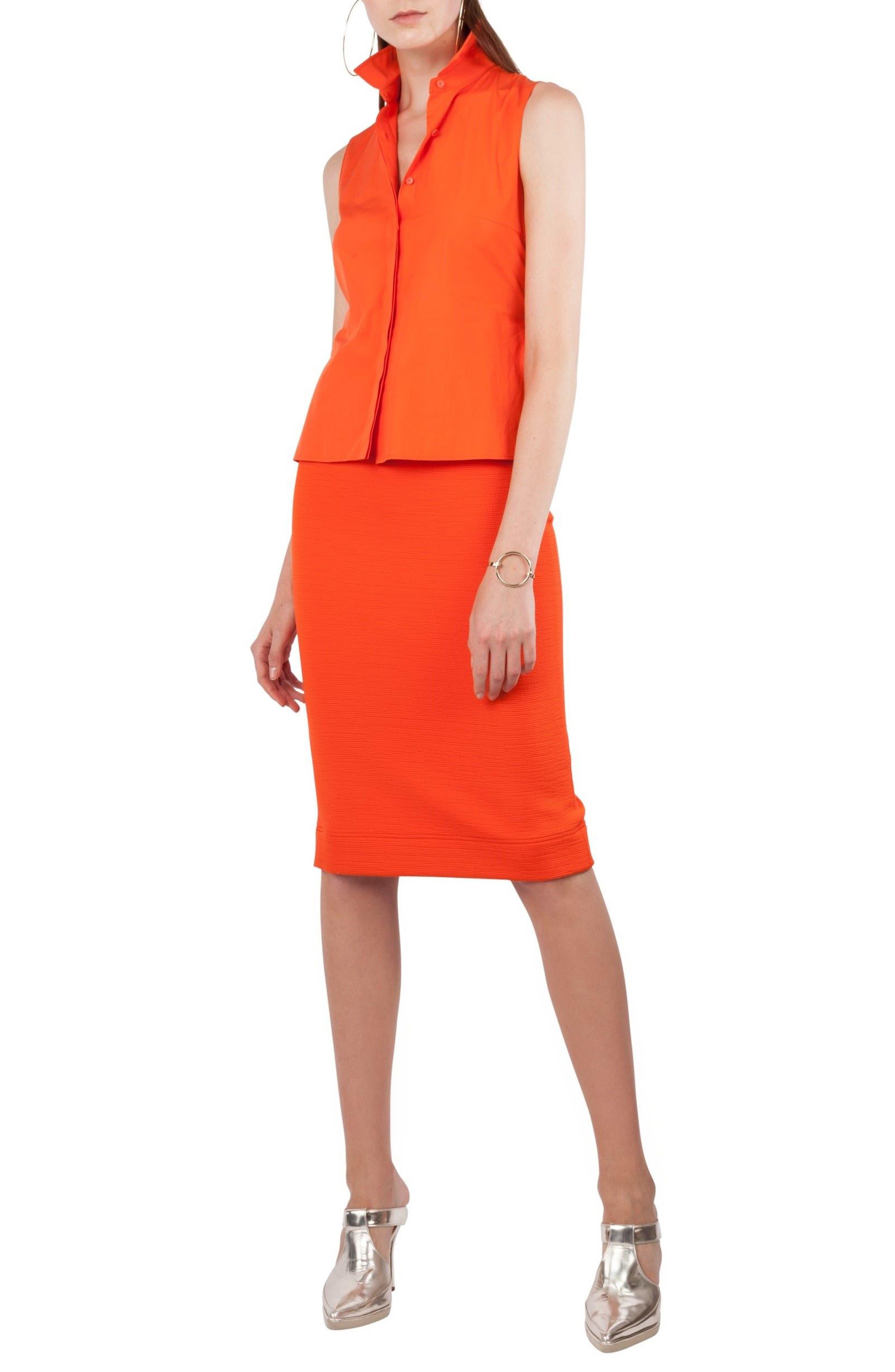 Kleid Layered Dress,                             Alternate thumbnail 3, color,                             Papaya