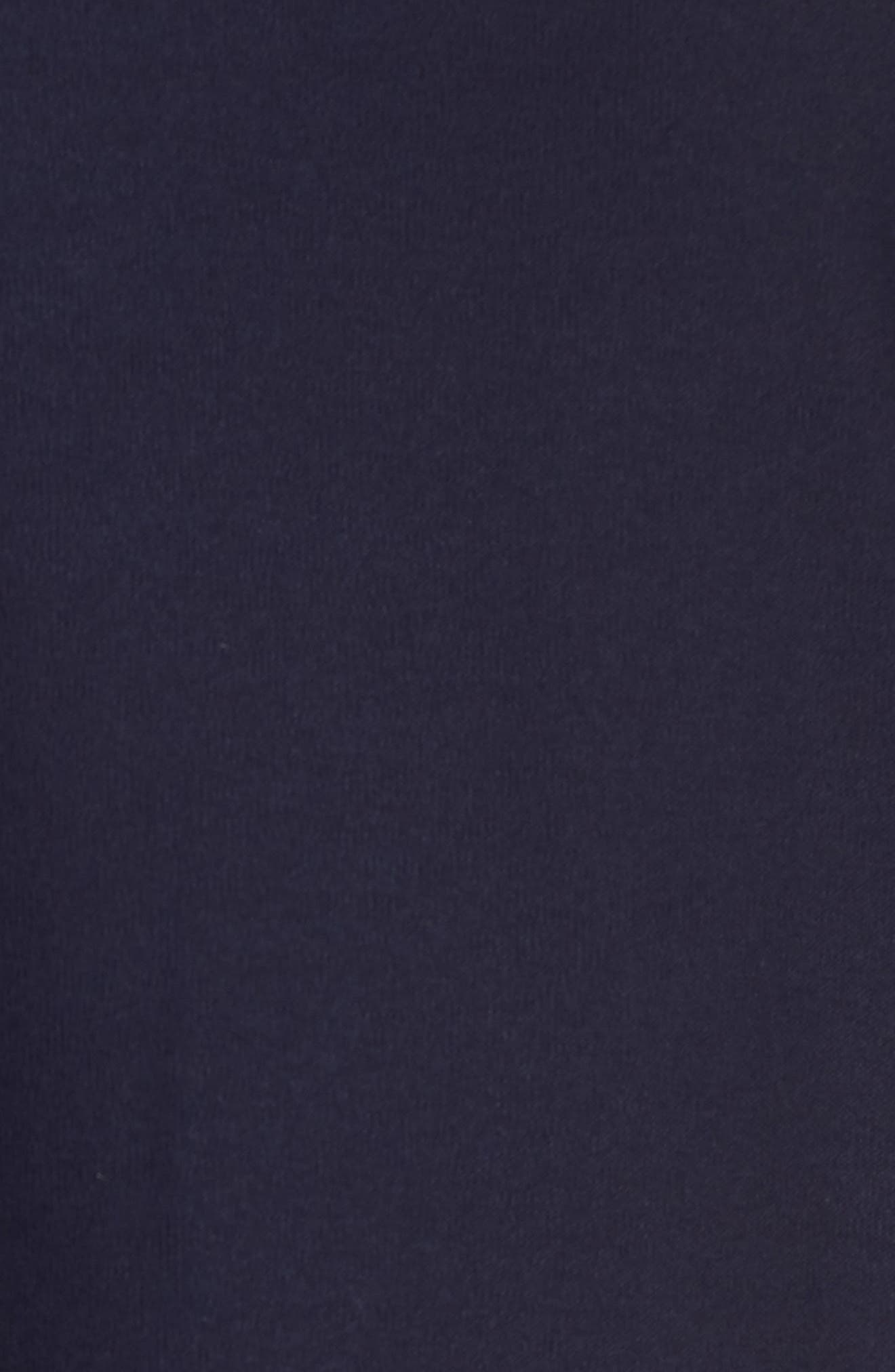 Stretch Knit Shift Dress,                             Alternate thumbnail 5, color,                             Midnight
