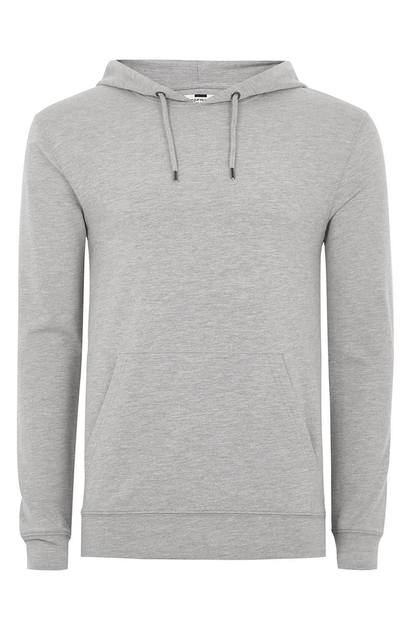 Ultra Muscle Fit Hoodie,                             Alternate thumbnail 4, color,                             Light Grey