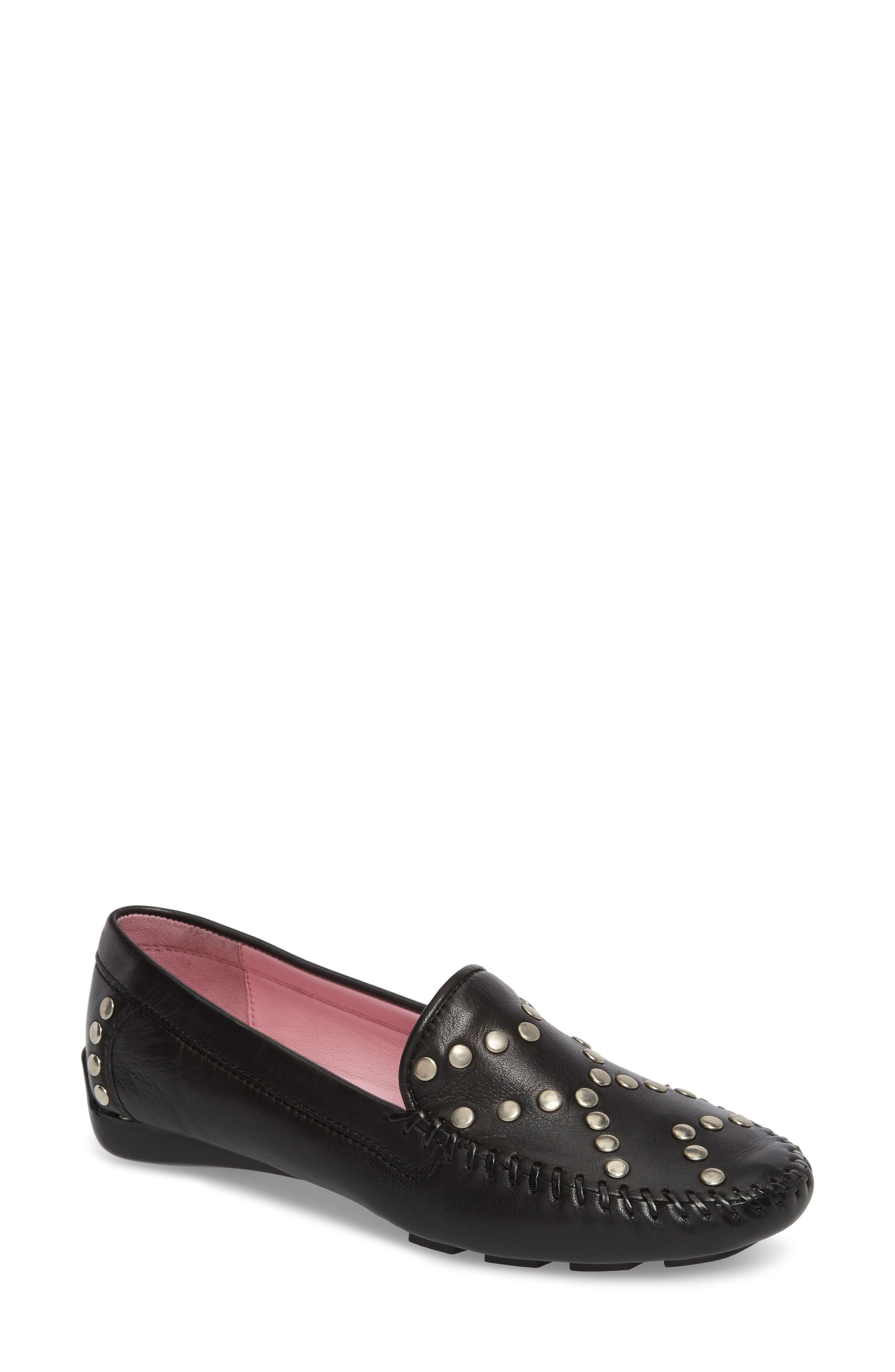 Tinae Studded Loafer,                             Main thumbnail 1, color,                             Black Leather