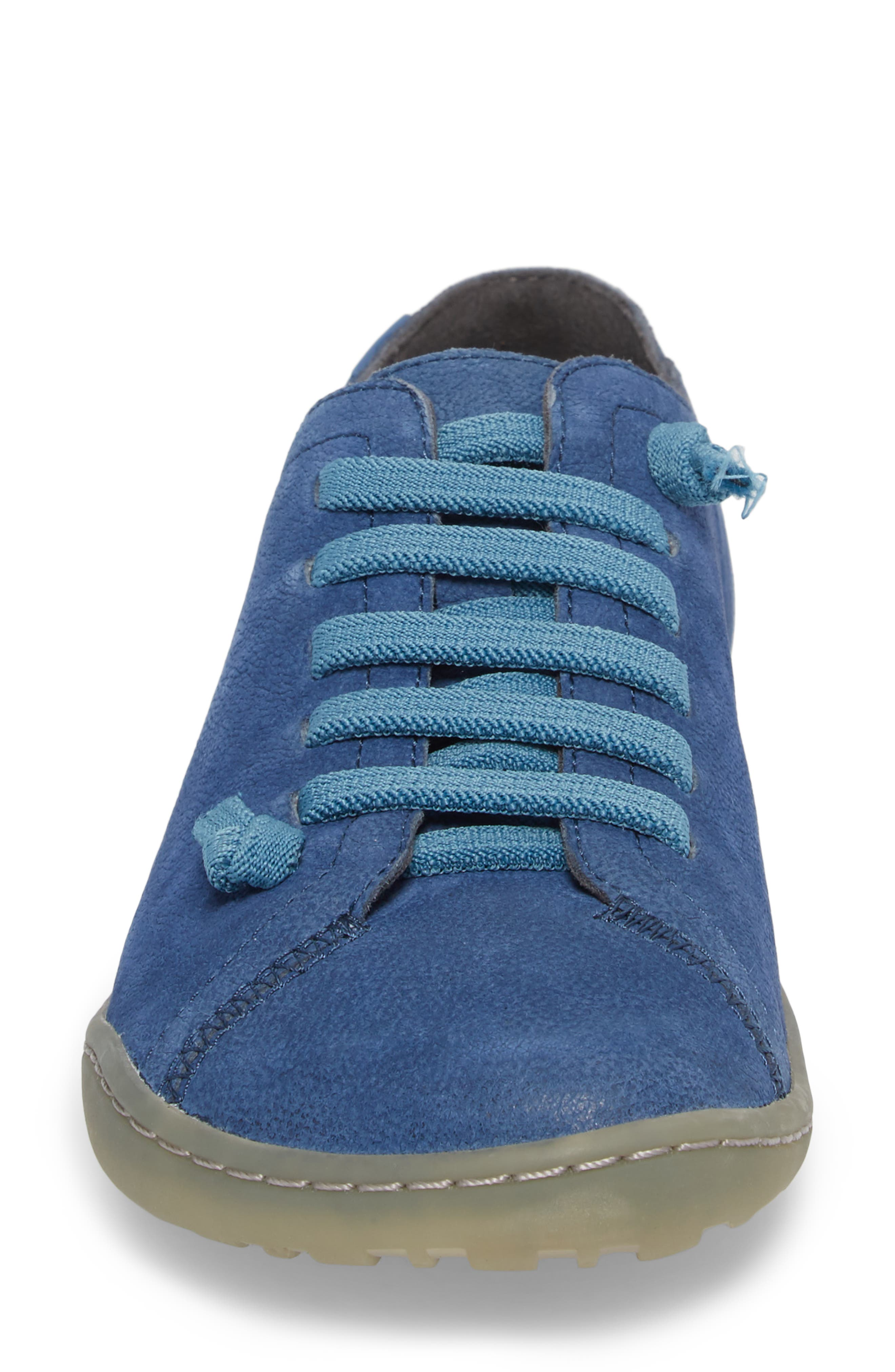 'Peu Cami' Leather Sneaker,                             Alternate thumbnail 4, color,                             Medium Blue Suede