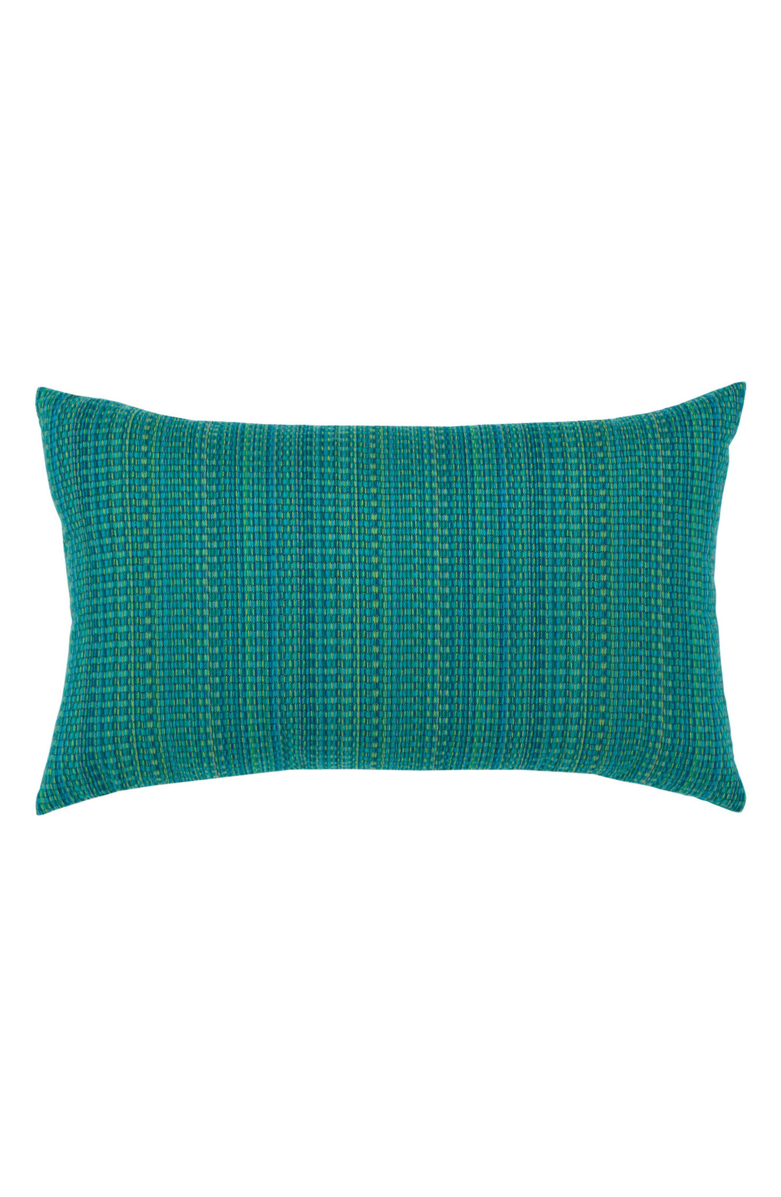 Eden Texture Indoor/Outdoor Accent Pillow,                         Main,                         color, Blue Green