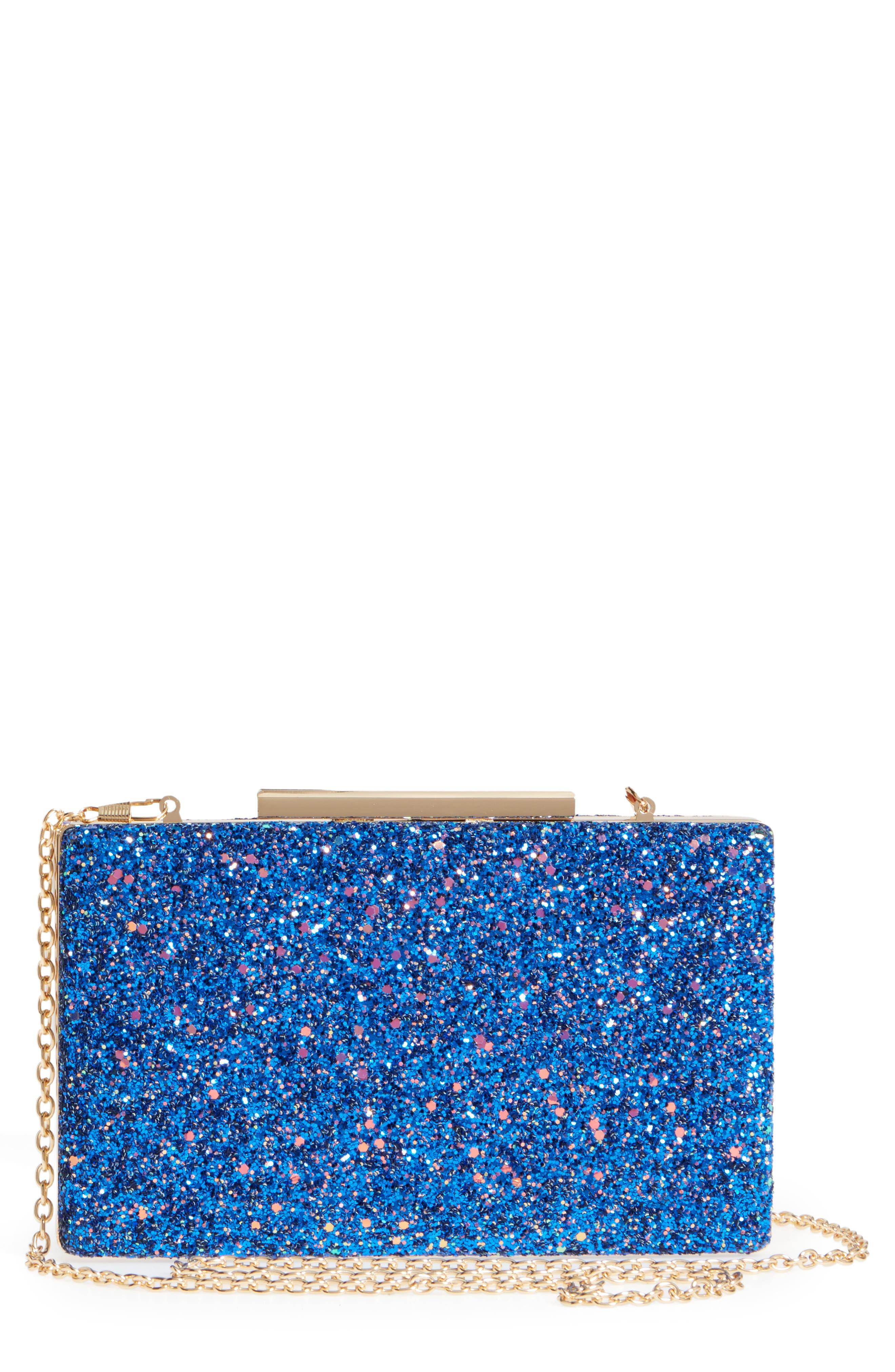 Natasha Couture Glitter Clutch