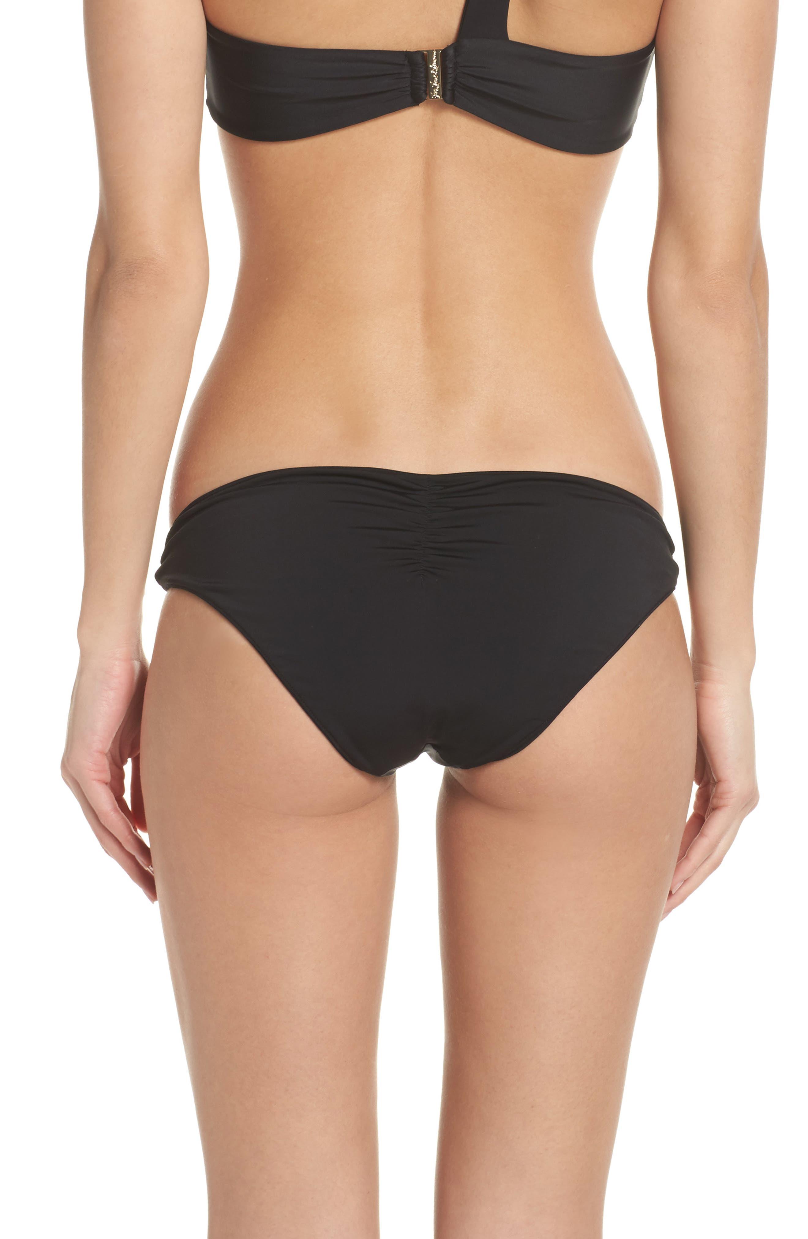 Tropicana Knotted Bikini Bottoms,                             Alternate thumbnail 2, color,                             Black