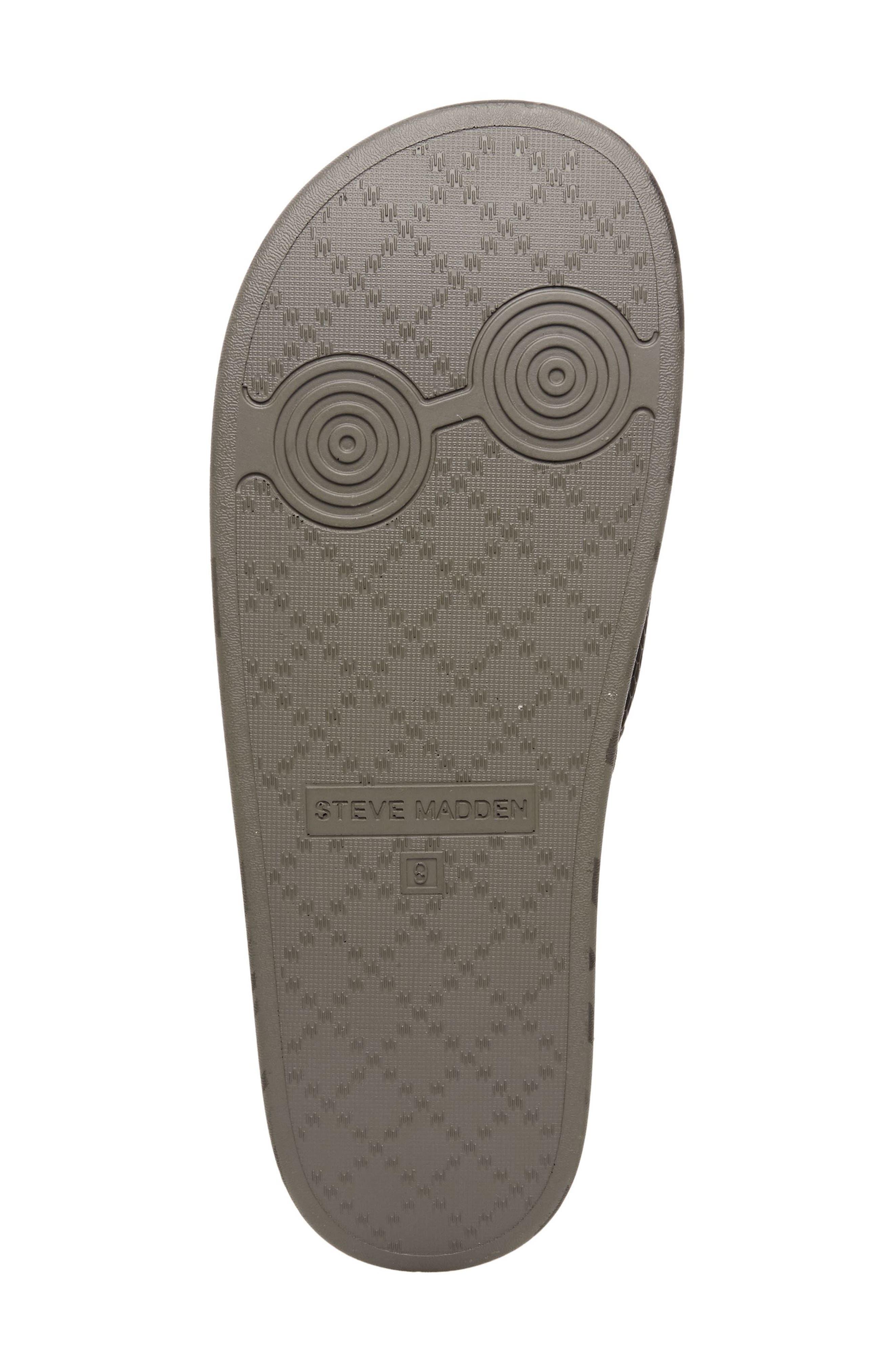 Seabees Textured Slide Sandal,                             Alternate thumbnail 6, color,                             Grey Camo