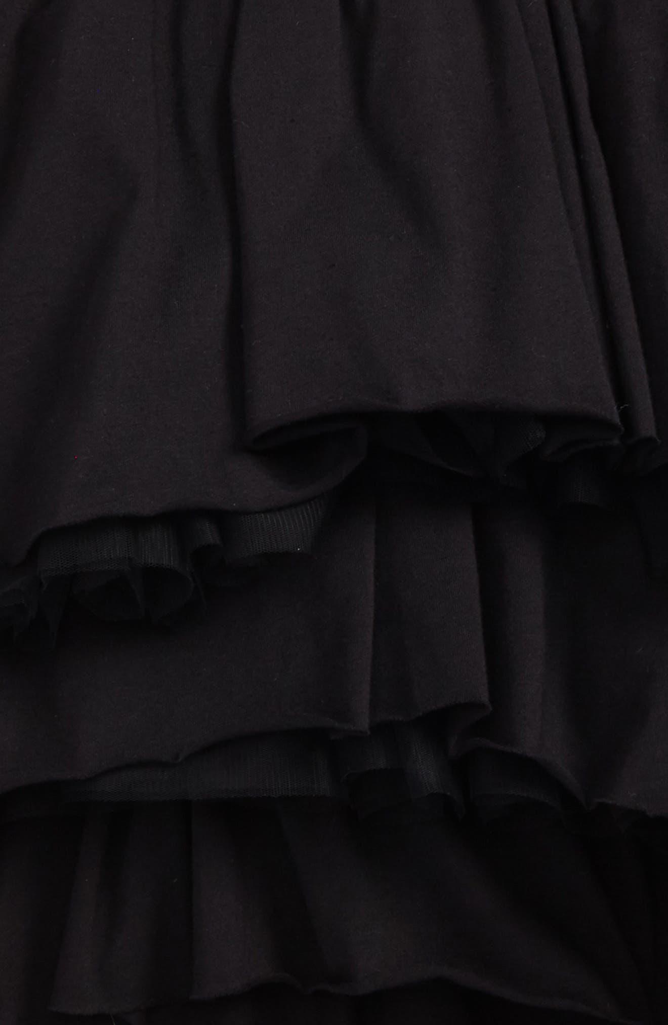 Layered Tulle Skirt,                             Alternate thumbnail 2, color,                             Black