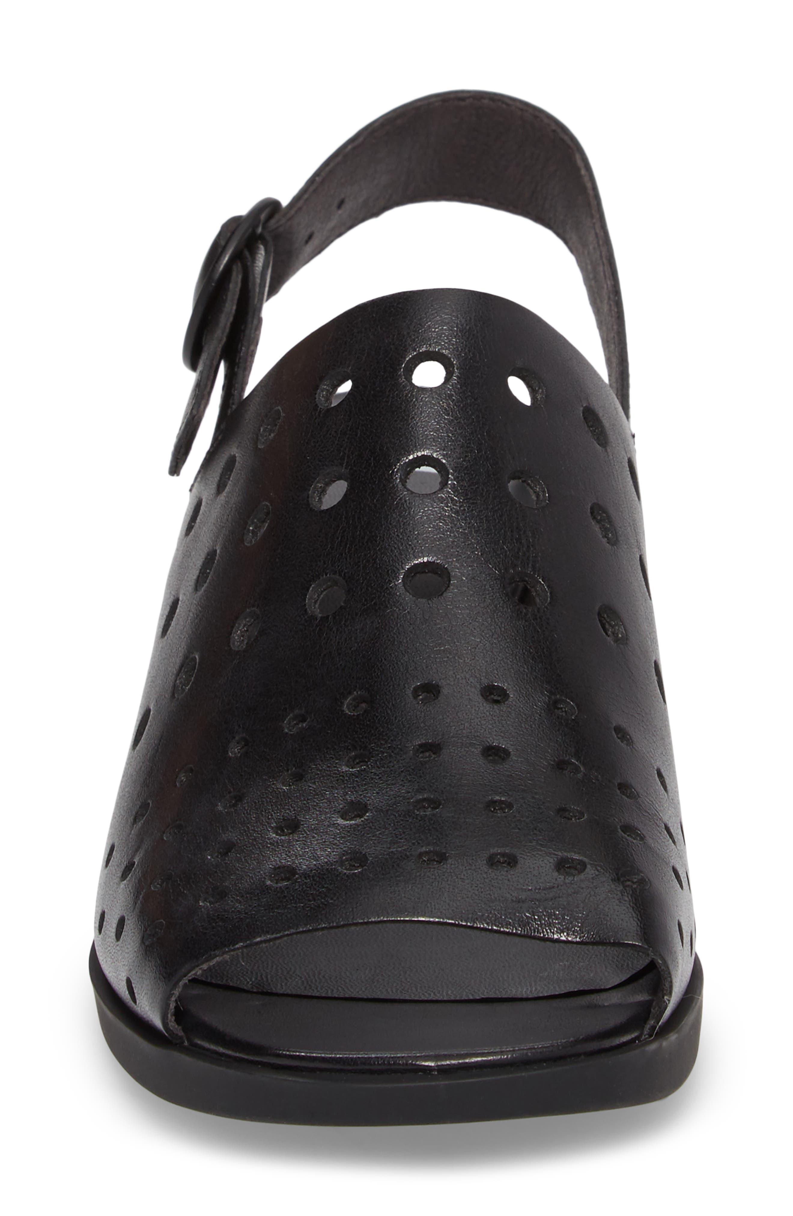 Twins Sandal,                             Alternate thumbnail 4, color,                             Black Leather
