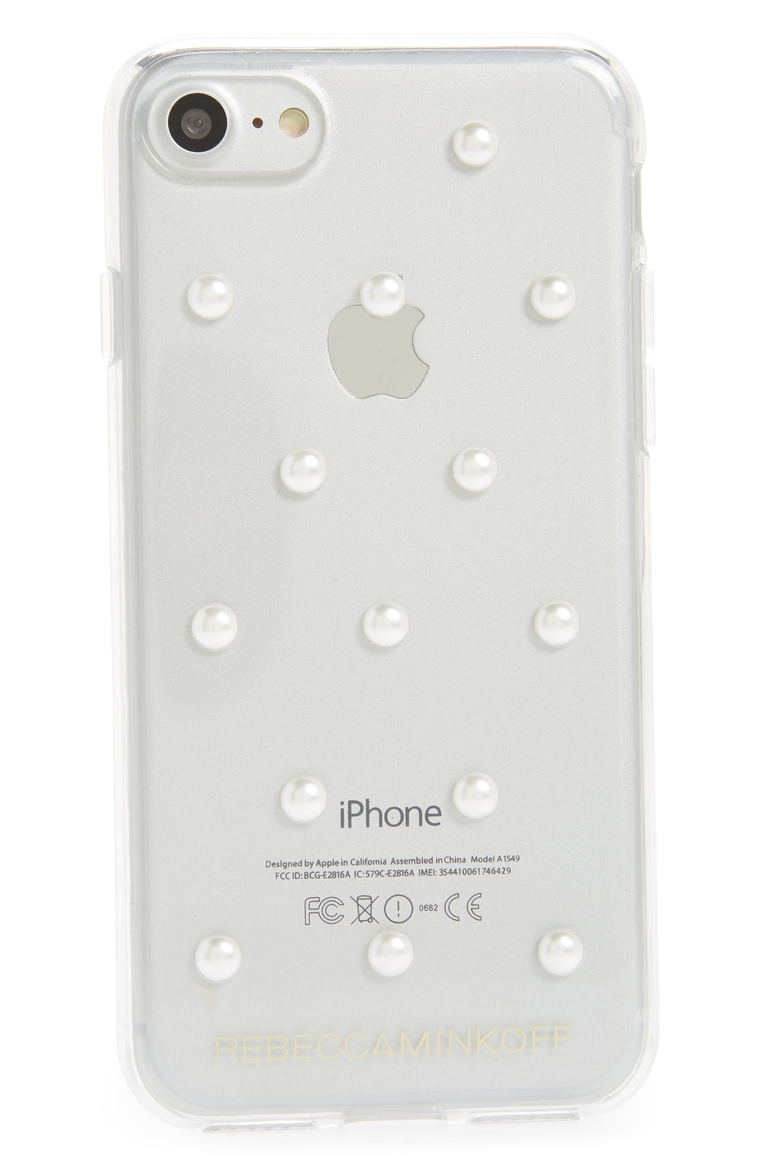 Main Image - Rebecca Minkoff Sheer Stud iPhone 7/8 and 7/8 Plus Case