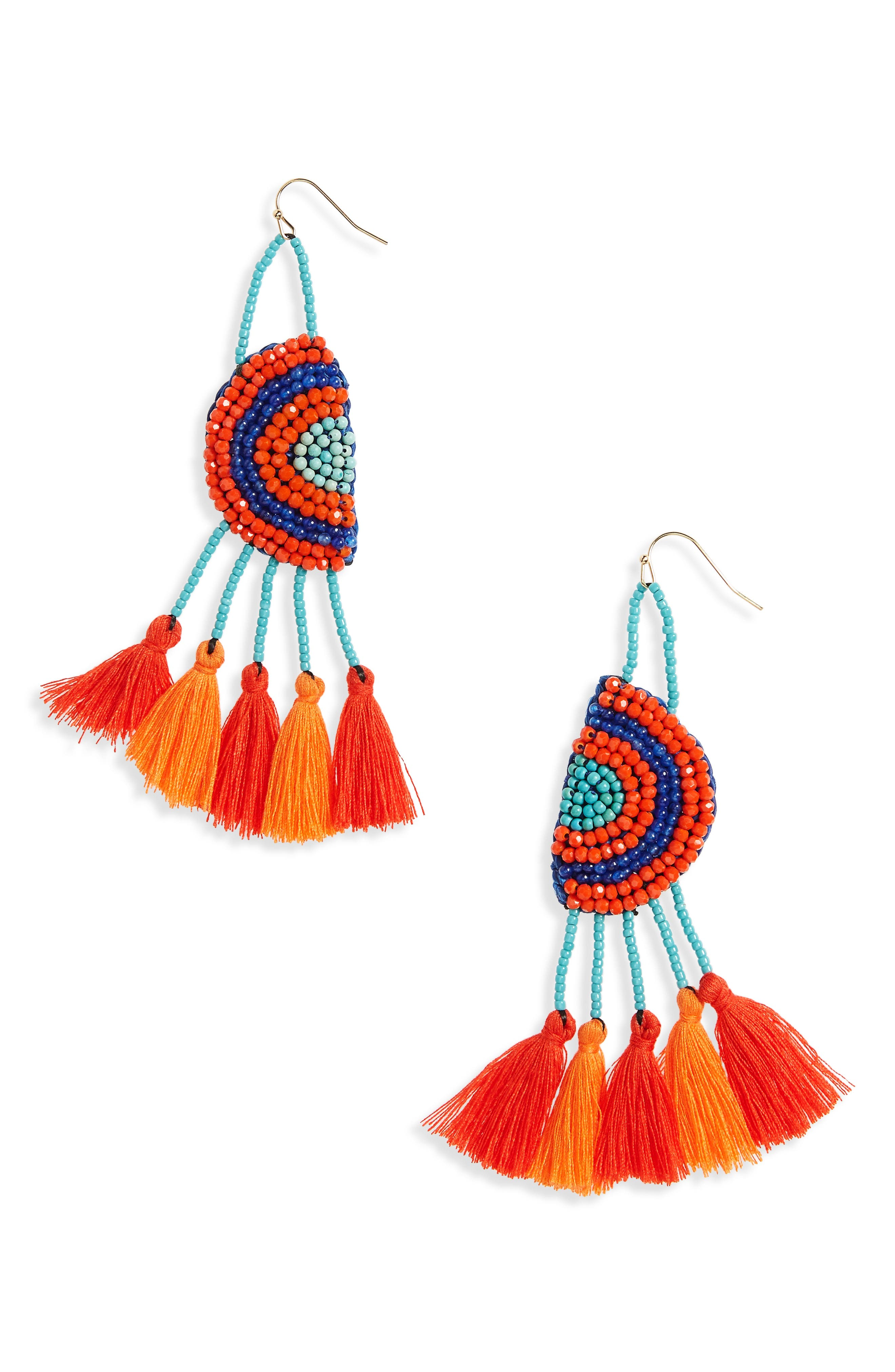 Main Image - Panacea Tassel Drop Earrings