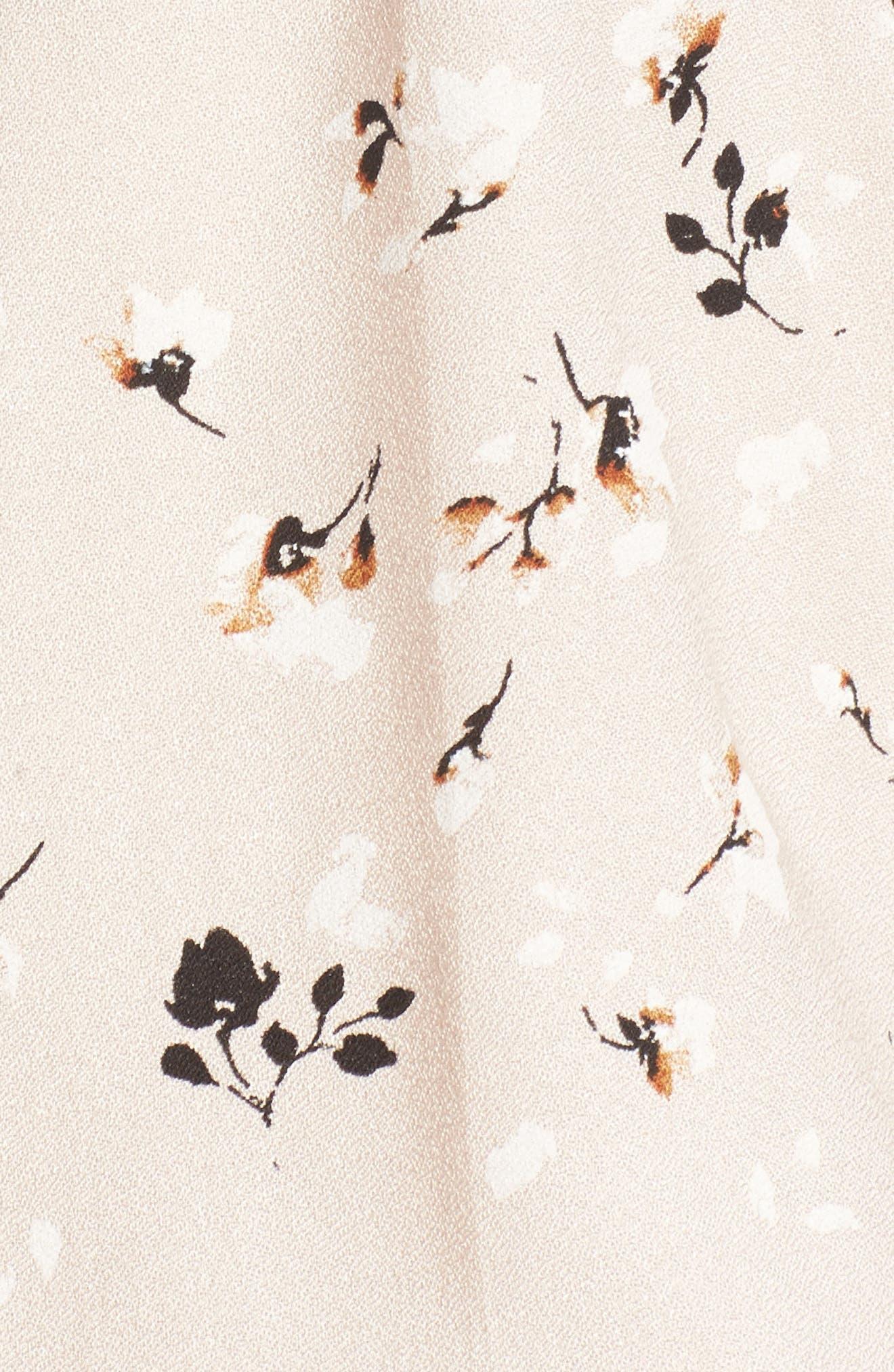 Print Surplice Popover Blouse,                             Alternate thumbnail 6, color,                             Pink Peony Bud Cotton Floral