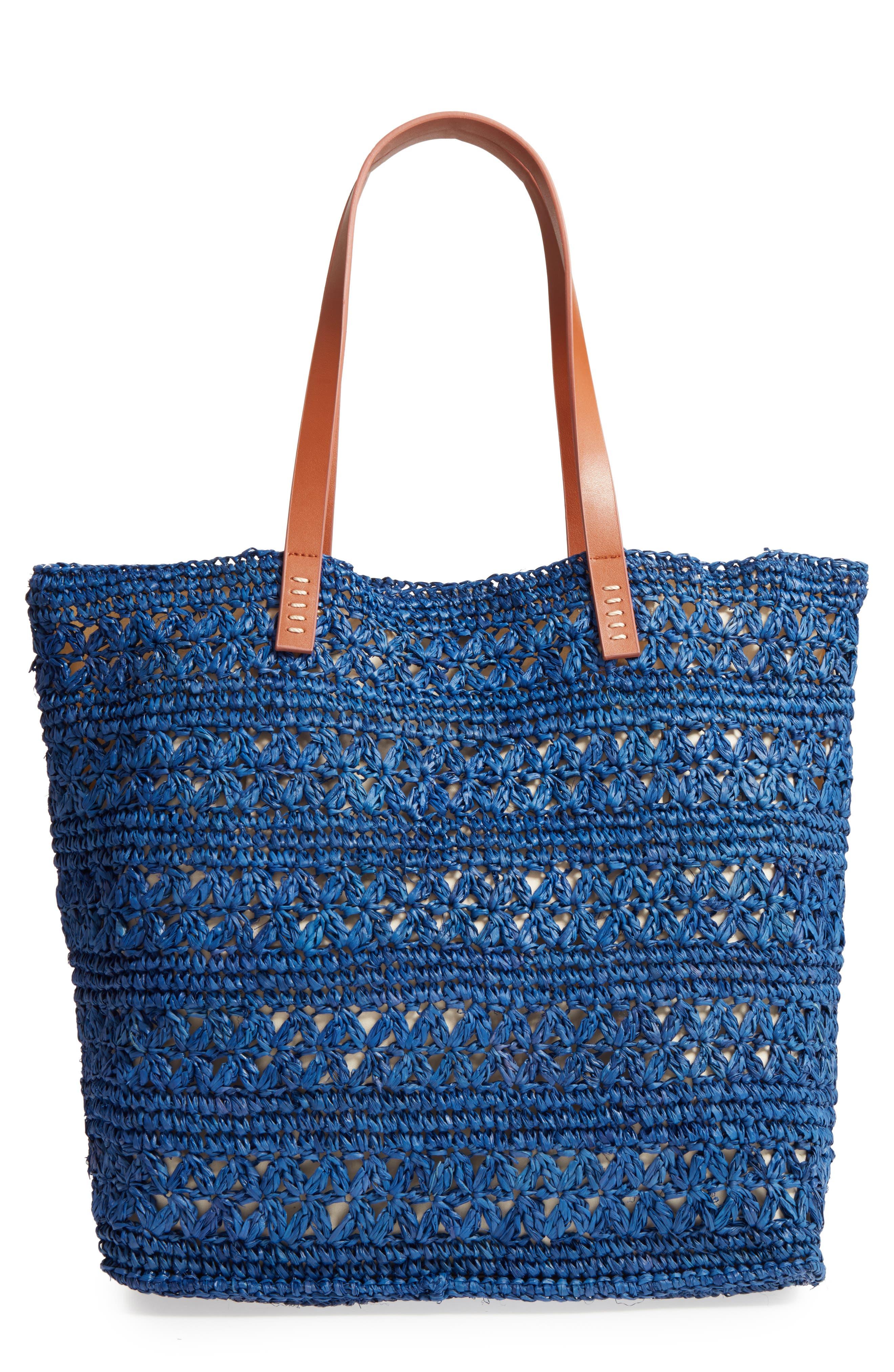 Nordstrom Packable Raffia Crochet Tote