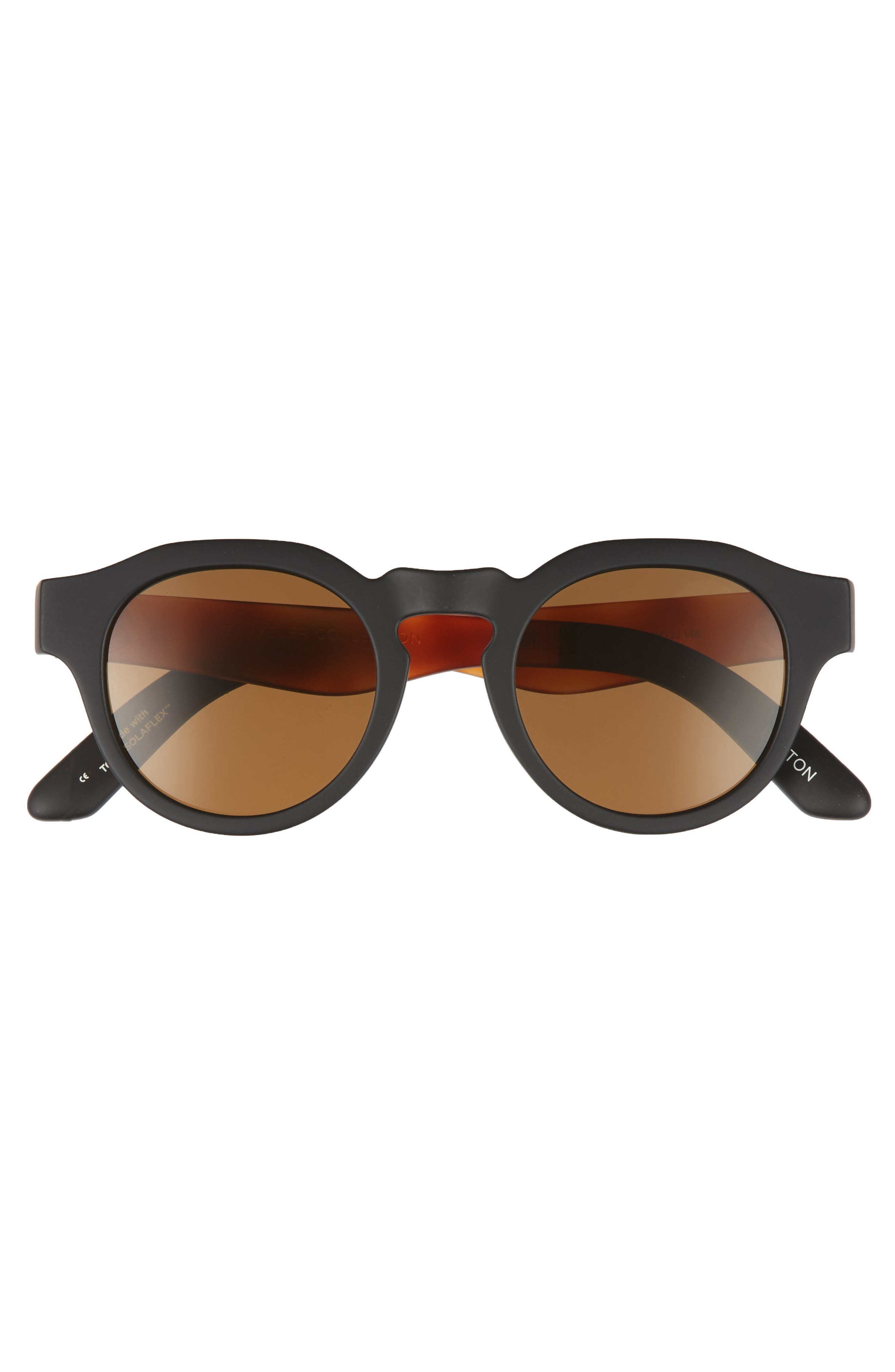 Bryton 48mm Polarized Sunglasses,                             Alternate thumbnail 2, color,                             Matte Black Polar