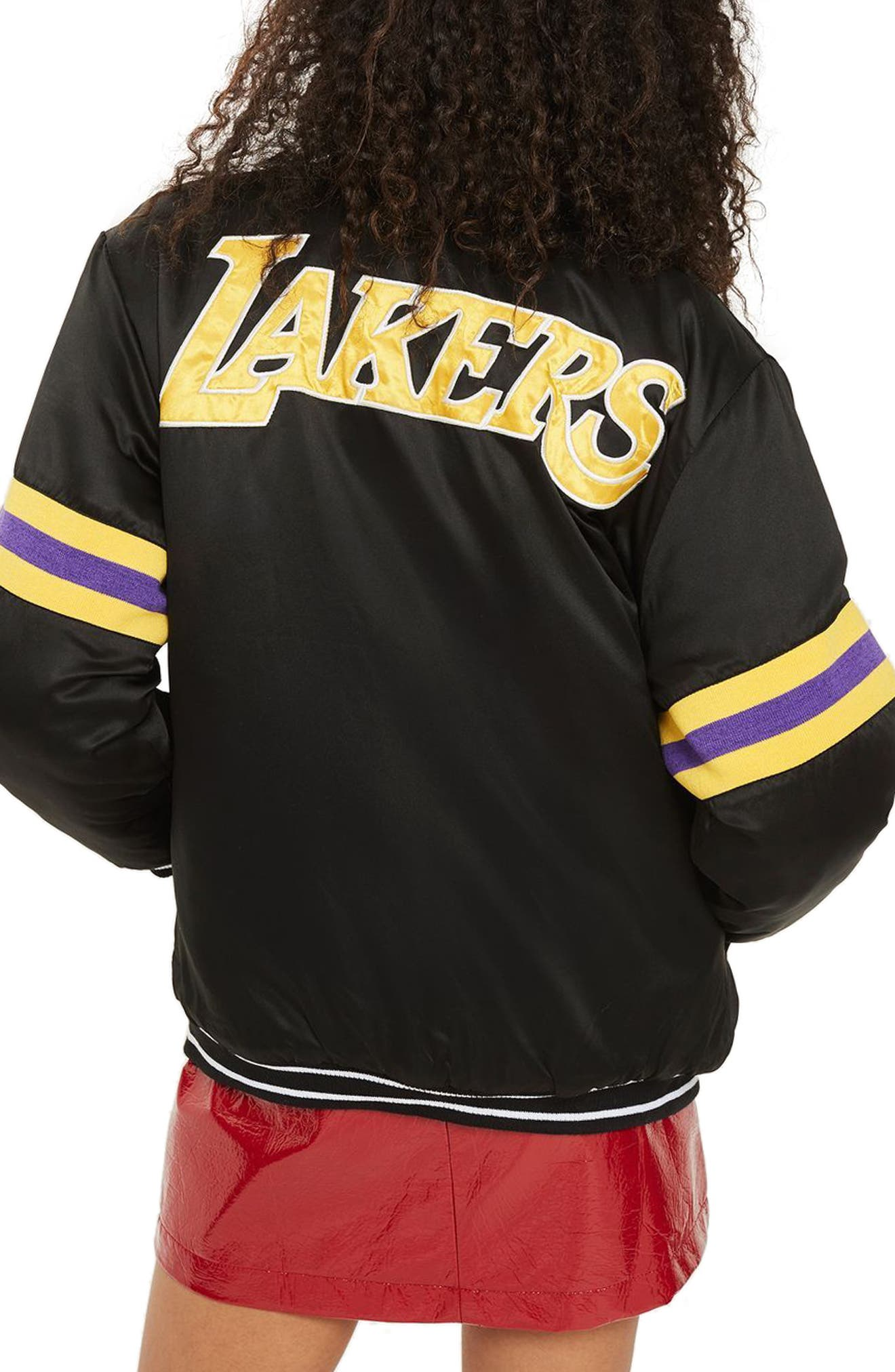 Alternate Image 2  - Topshop x UNK Lakers Bomber Jacket