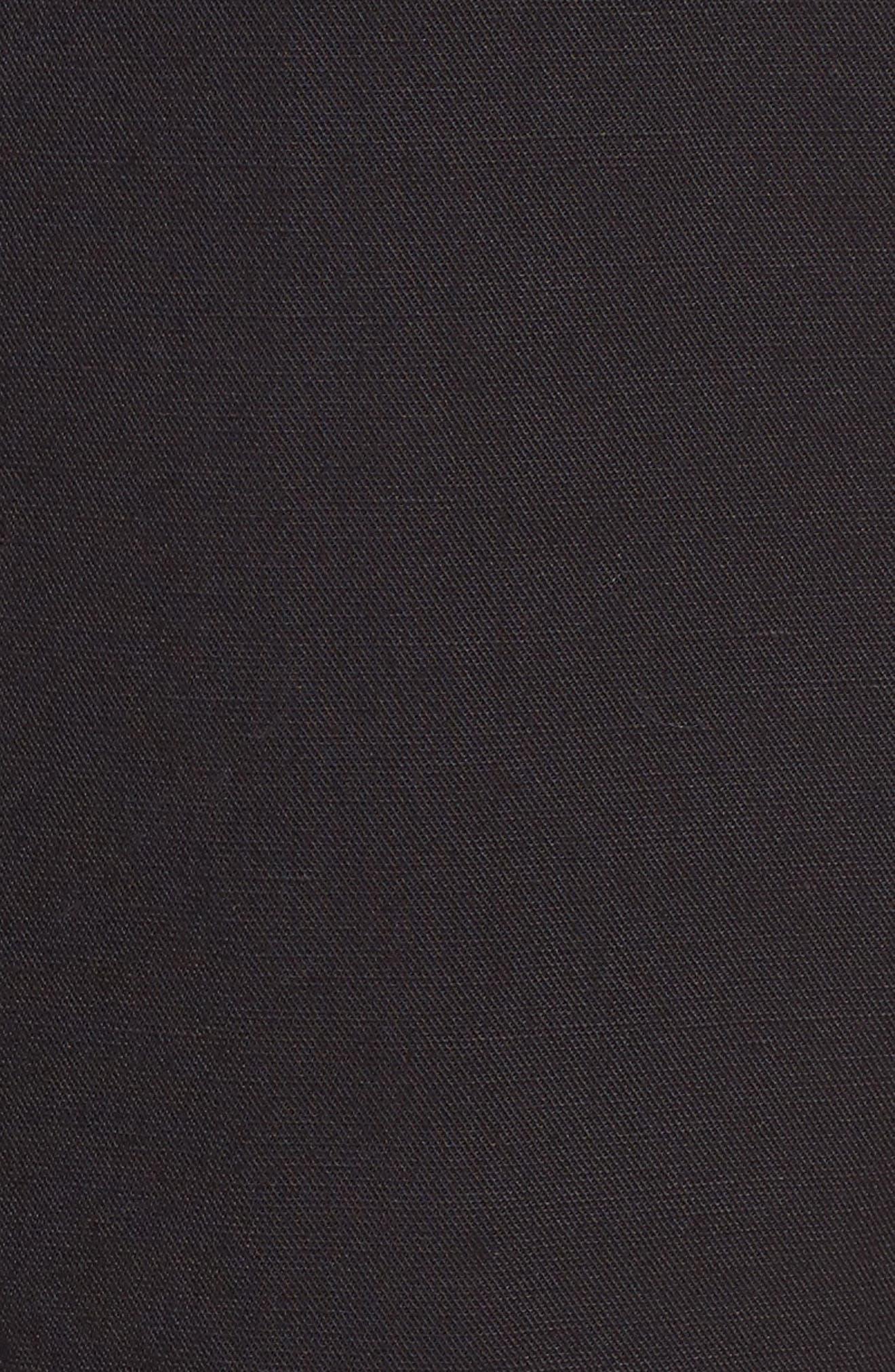 Tencel<sup>®</sup> Lyocell & Linen Walking Shorts,                             Alternate thumbnail 5, color,                             Black