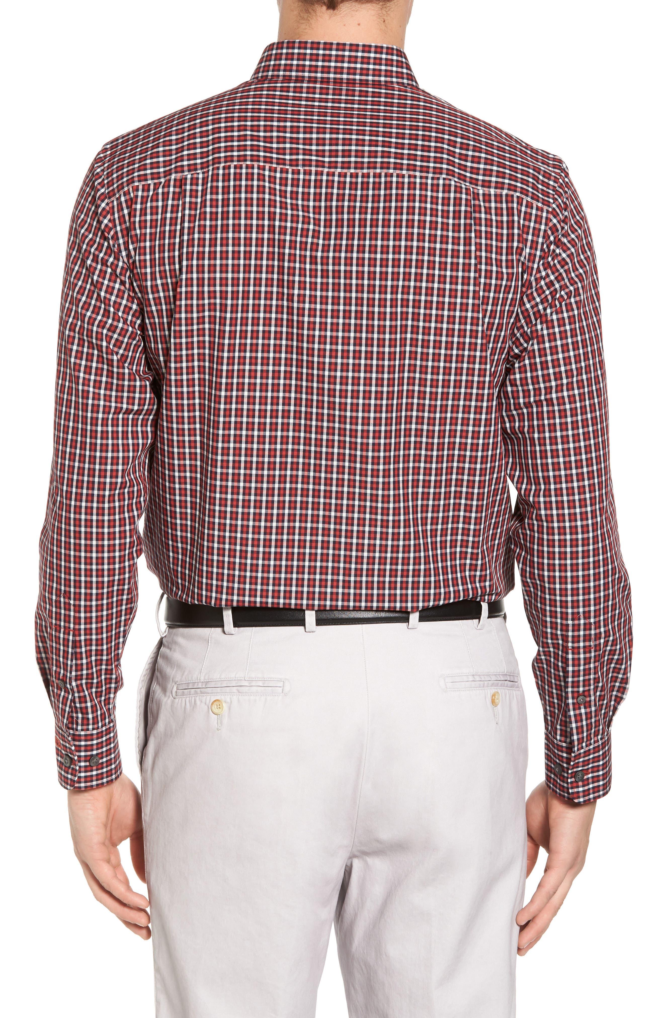 Alternate Image 2  - Cutter & Buck Barrett Check Easy Care Sport Shirt
