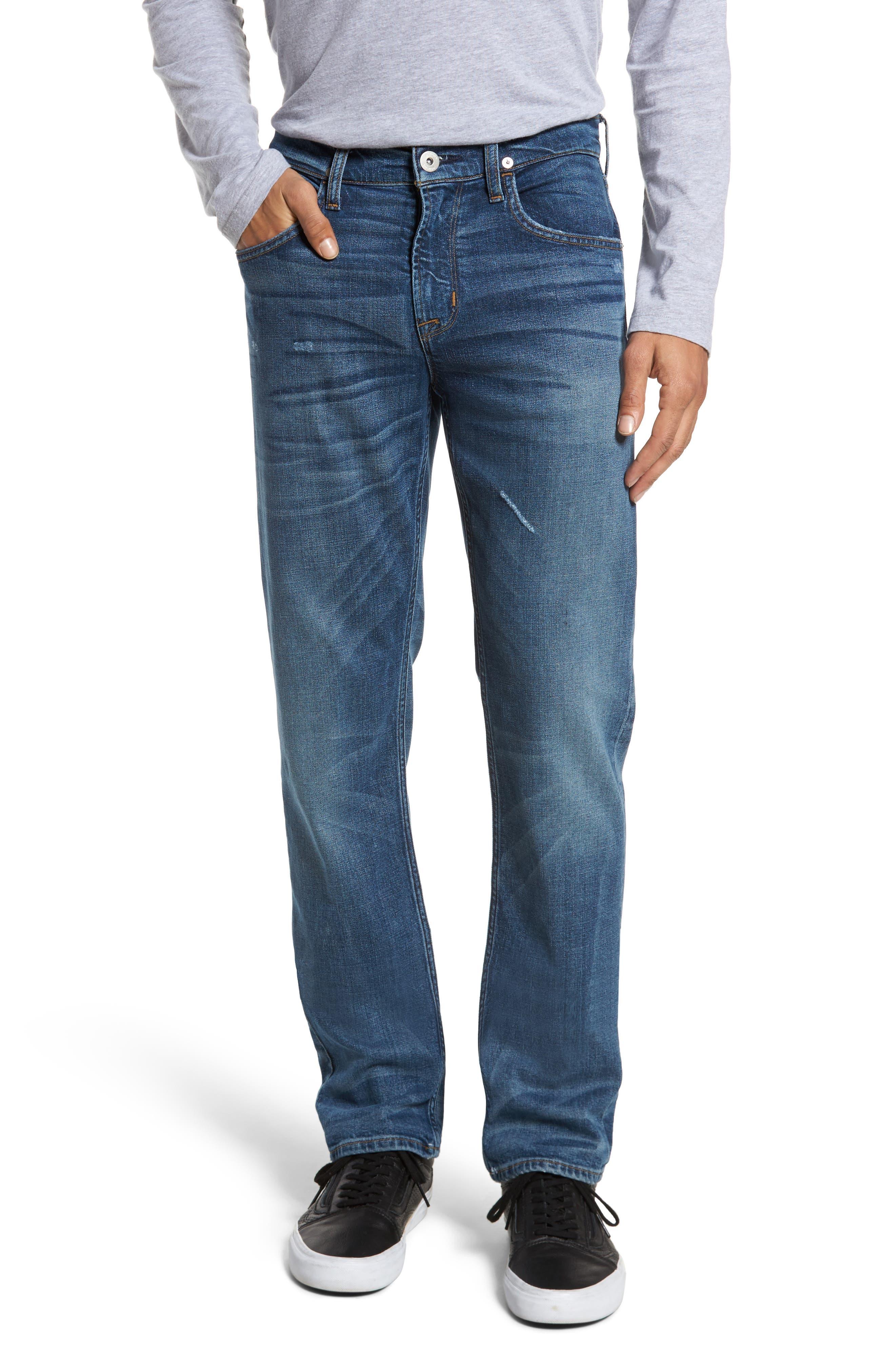 Alternate Image 1 Selected - Hudson Jeans Byron Slim Straight Leg Jeans (Graph)