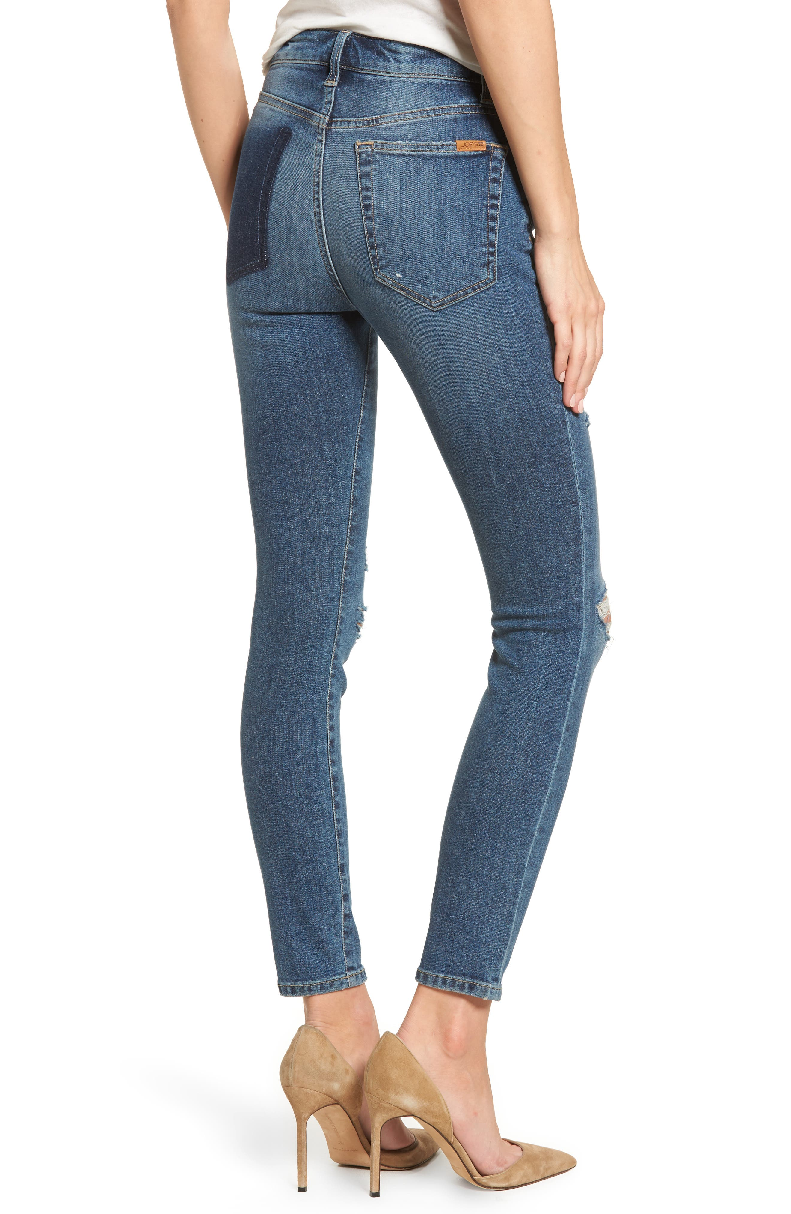 Charlie High Waist Ankle Skinny Jeans,                             Alternate thumbnail 2, color,                             Kandie
