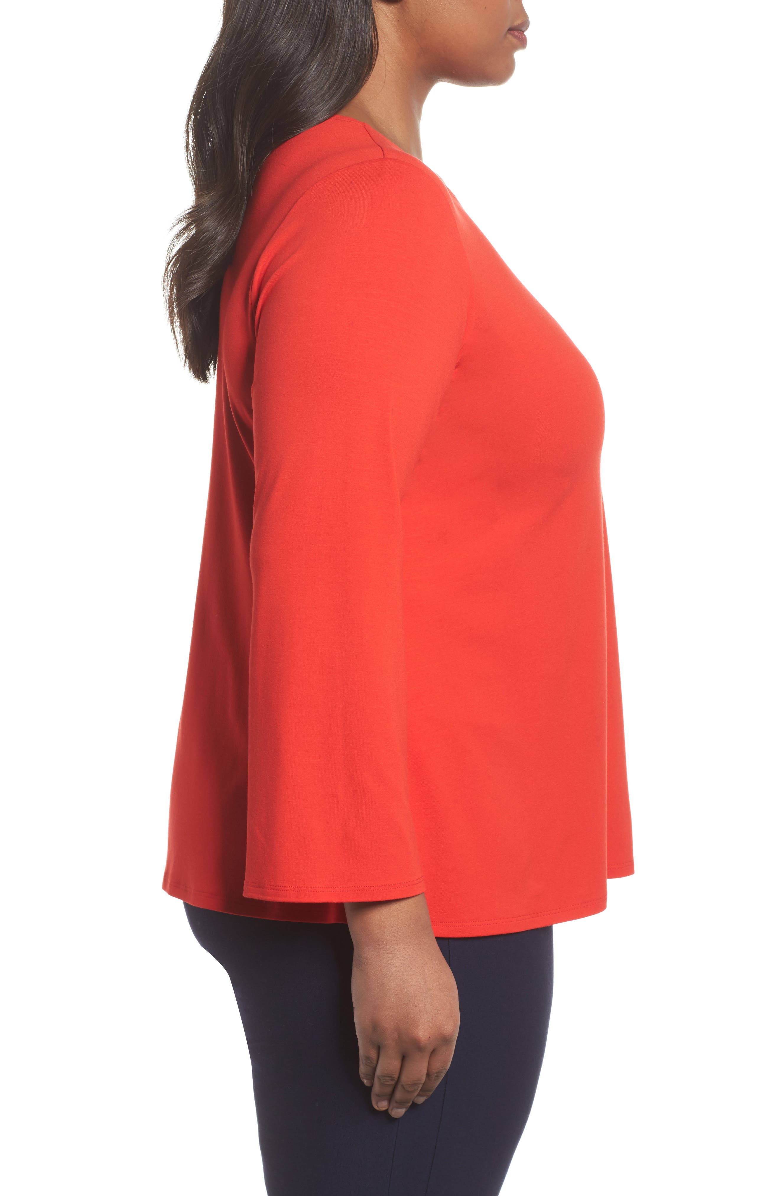 Alternate Image 3  - Eileen Fisher Jersey Ballet Neck Top (Plus Size)