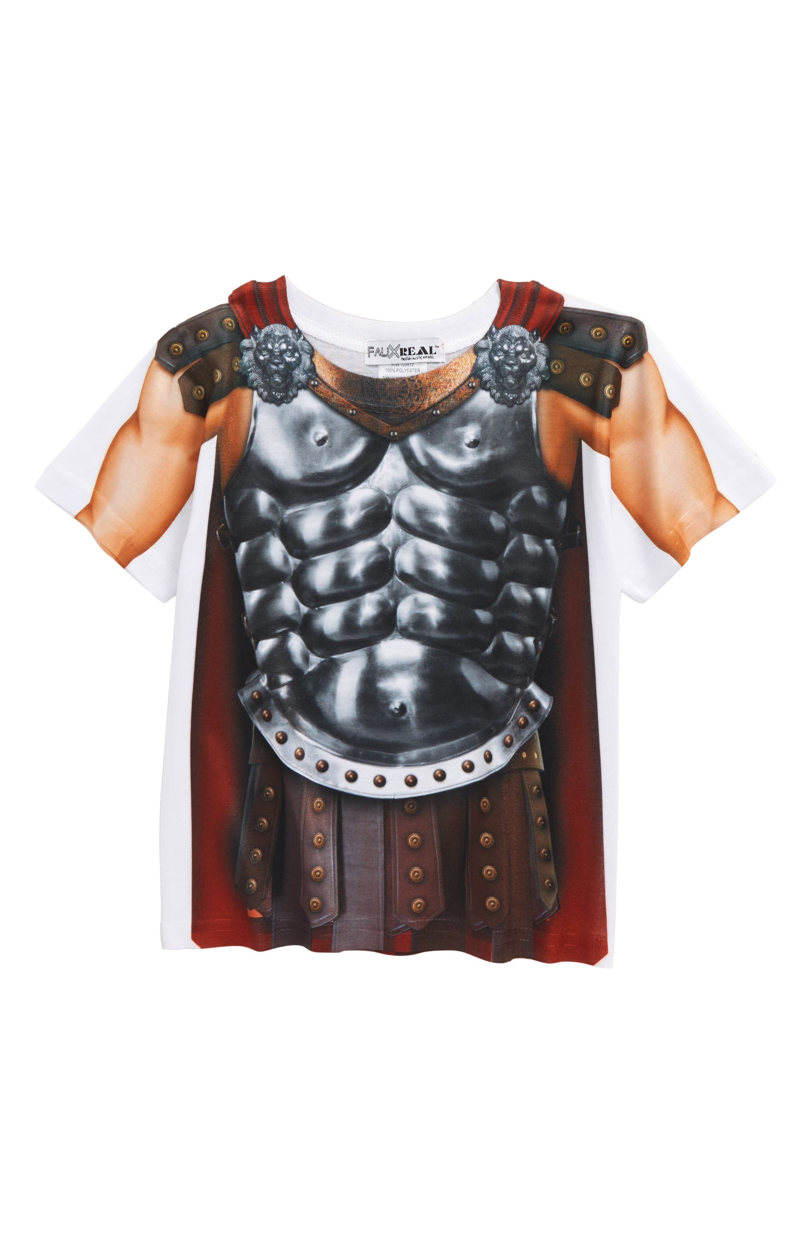 Alternate Image 1 Selected - Faux Real Gladiator Screenprint T-Shirt (Toddler Boys)