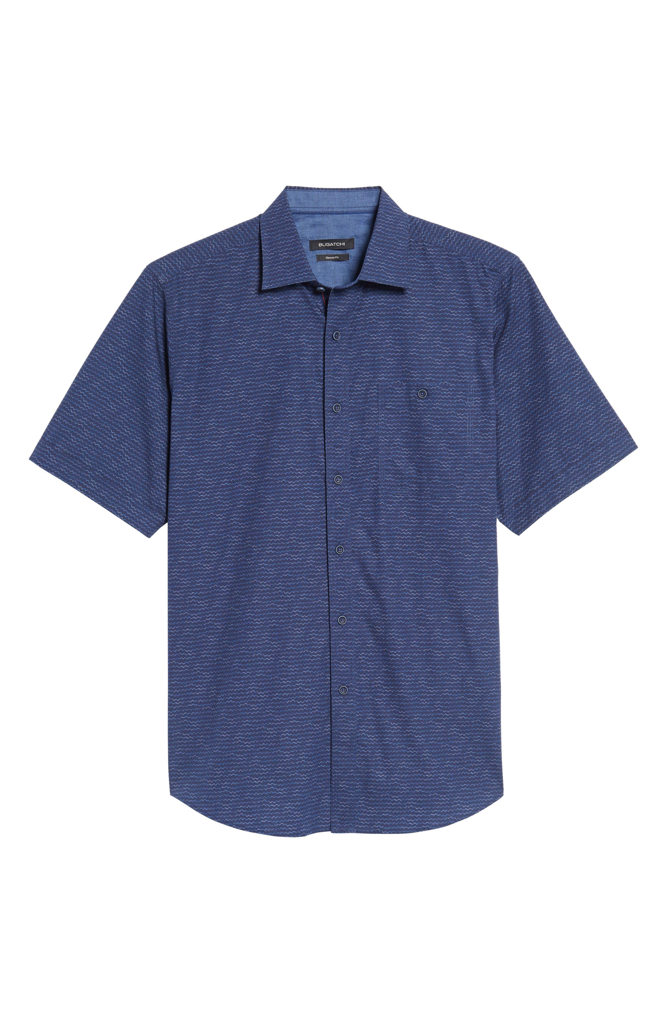 Alternate Image 6  - Bugatchi Classic Fit Sport Shirt