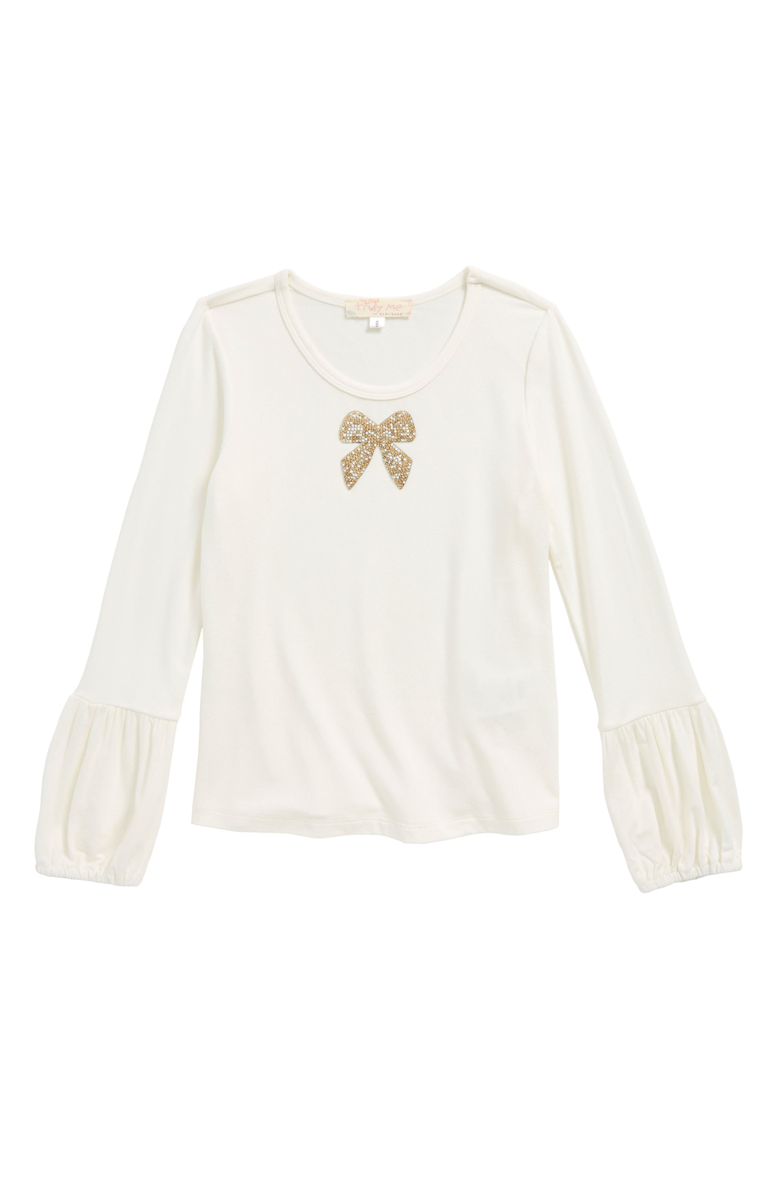 Main Image - Truly Me Crystal Bow Top (Toddler Girls & Little Girls)