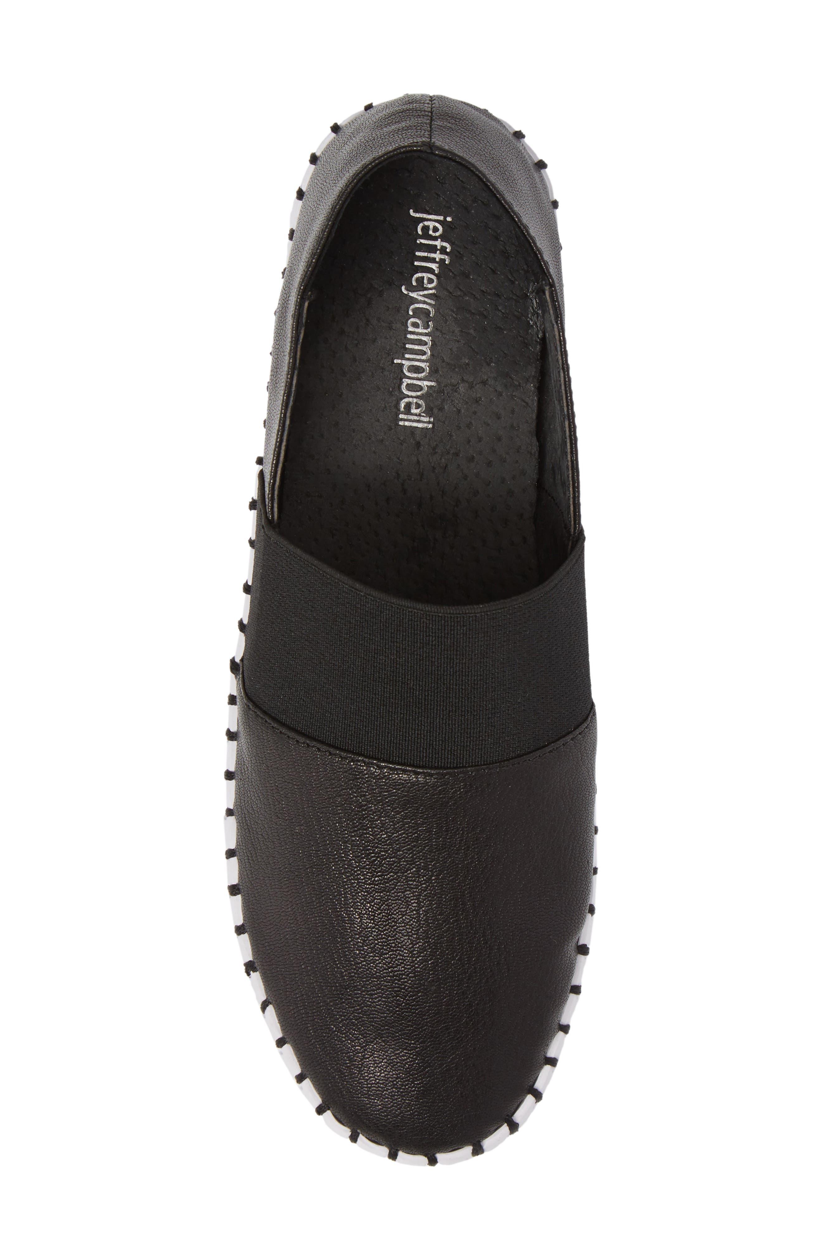 Cube Slip-On Platform Sneaker,                             Alternate thumbnail 4, color,                             Black Leather
