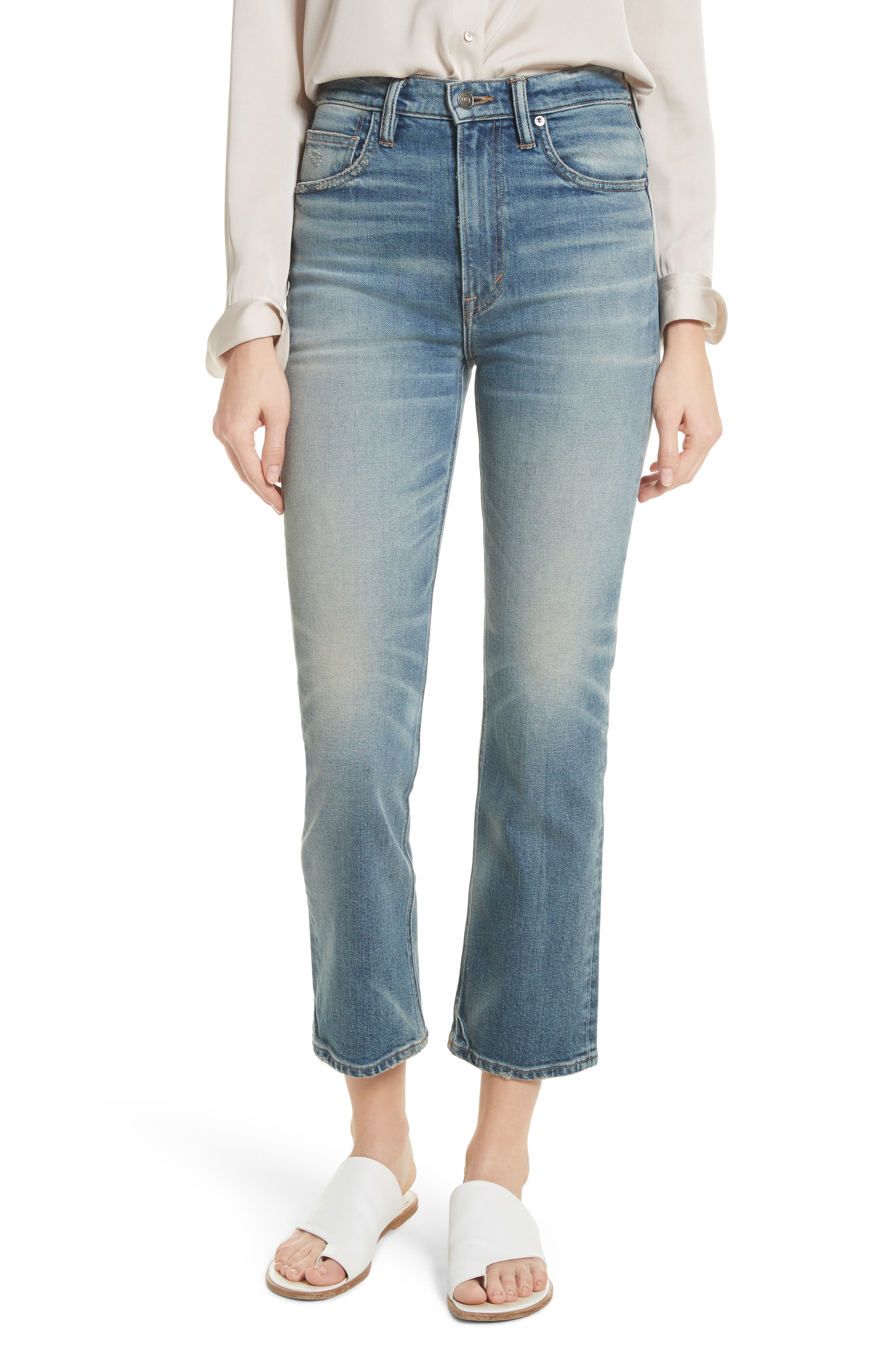 Vince High Waist Straight Leg Jeans (O'Keefe)