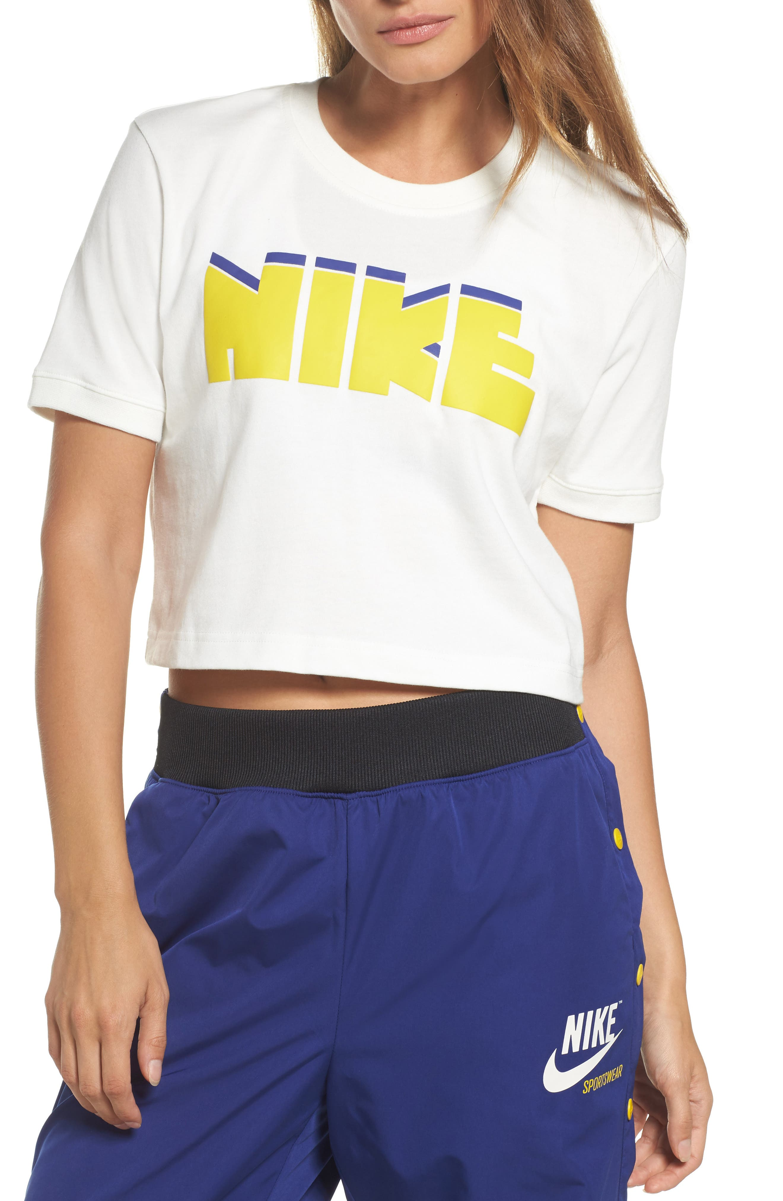 Sportswear Archive Crop Tee,                             Main thumbnail 1, color,                             Sail