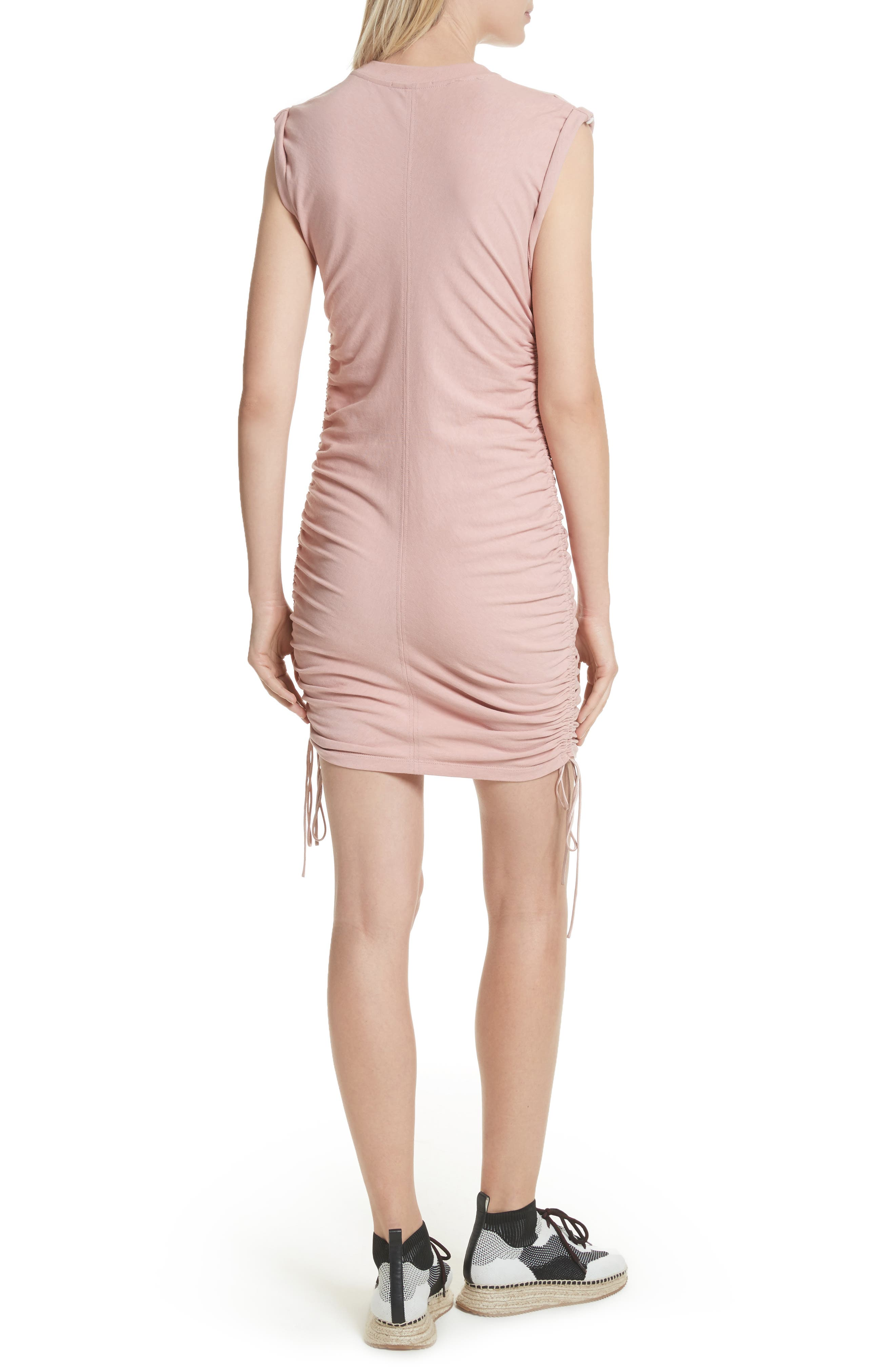 Alternate Image 2  - T by Alexander Wang Ruched Jersey Minidress