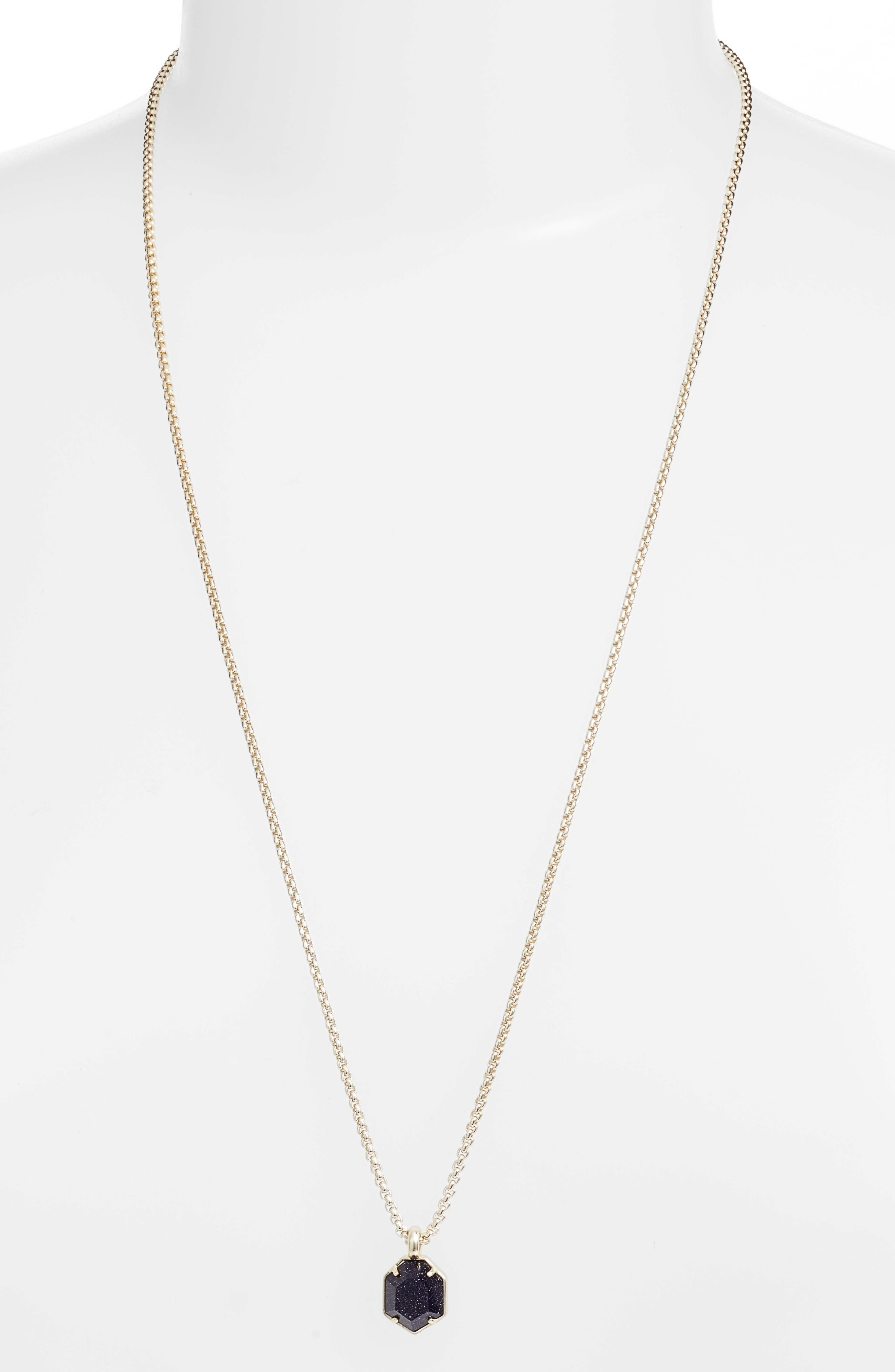 Kendra Scott Teo Semiprecious Pendant Necklace (Nordstrom Exclusive)