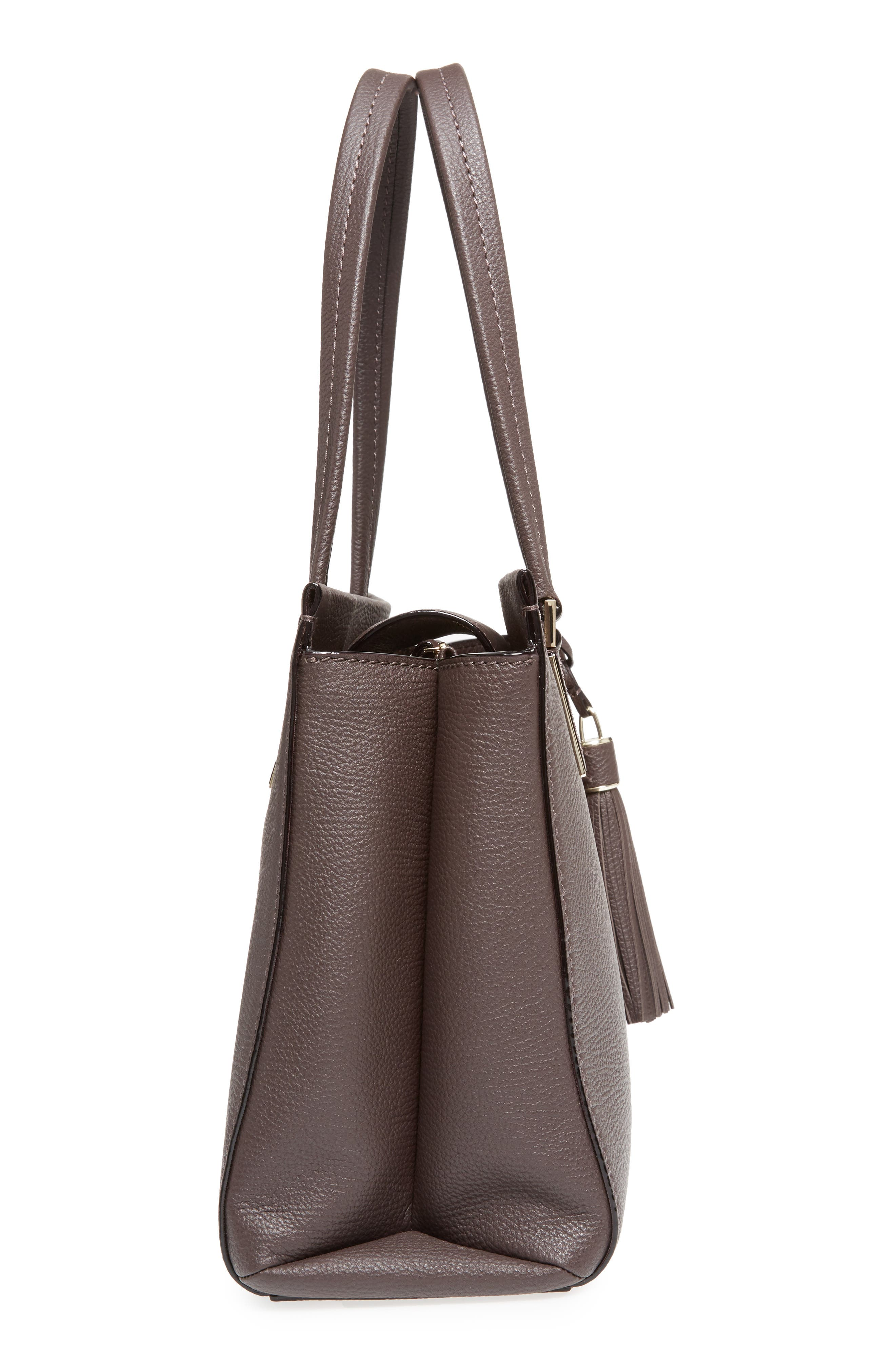 kingston drive - bartlett leather satchel,                             Alternate thumbnail 4, color,                             Morning Black