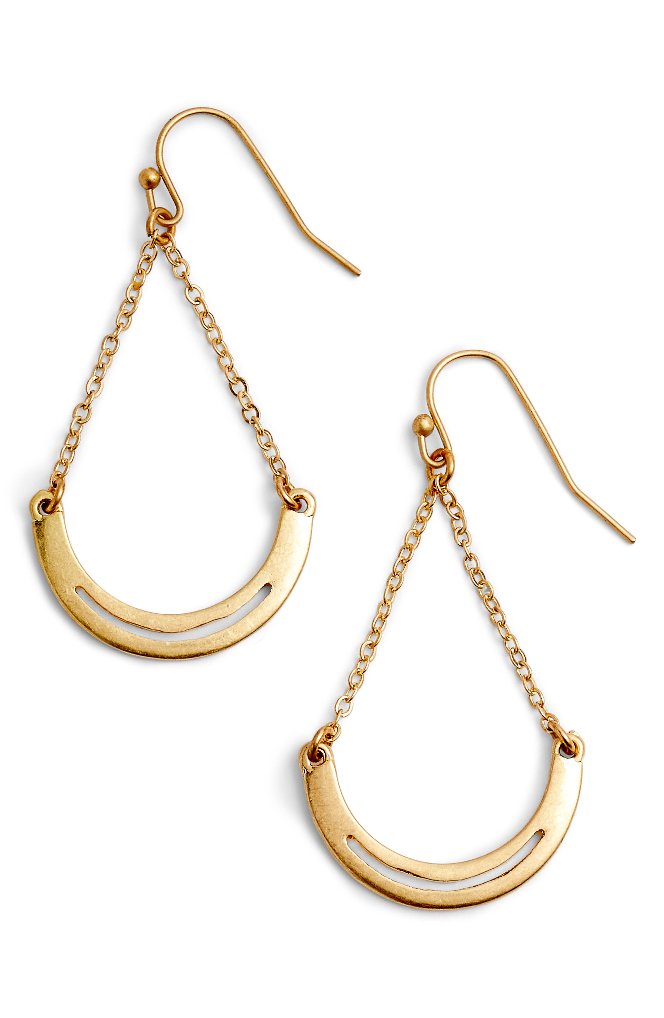 Cutout Arch Trapeze Earrings,                         Main,                         color, Gold