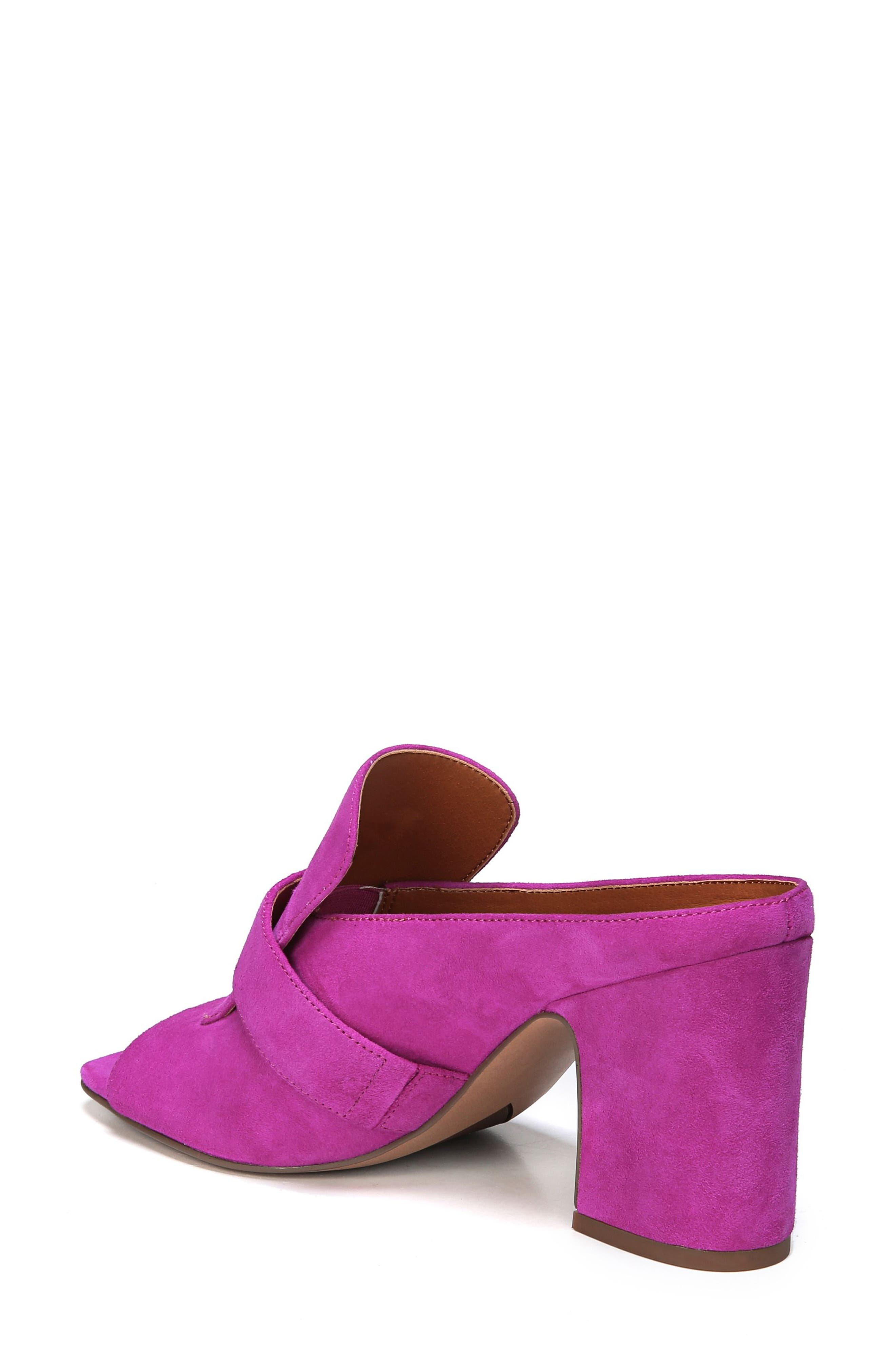 Rosalie Block Heel Sandal,                             Alternate thumbnail 2, color,                             Wild Violet Suede