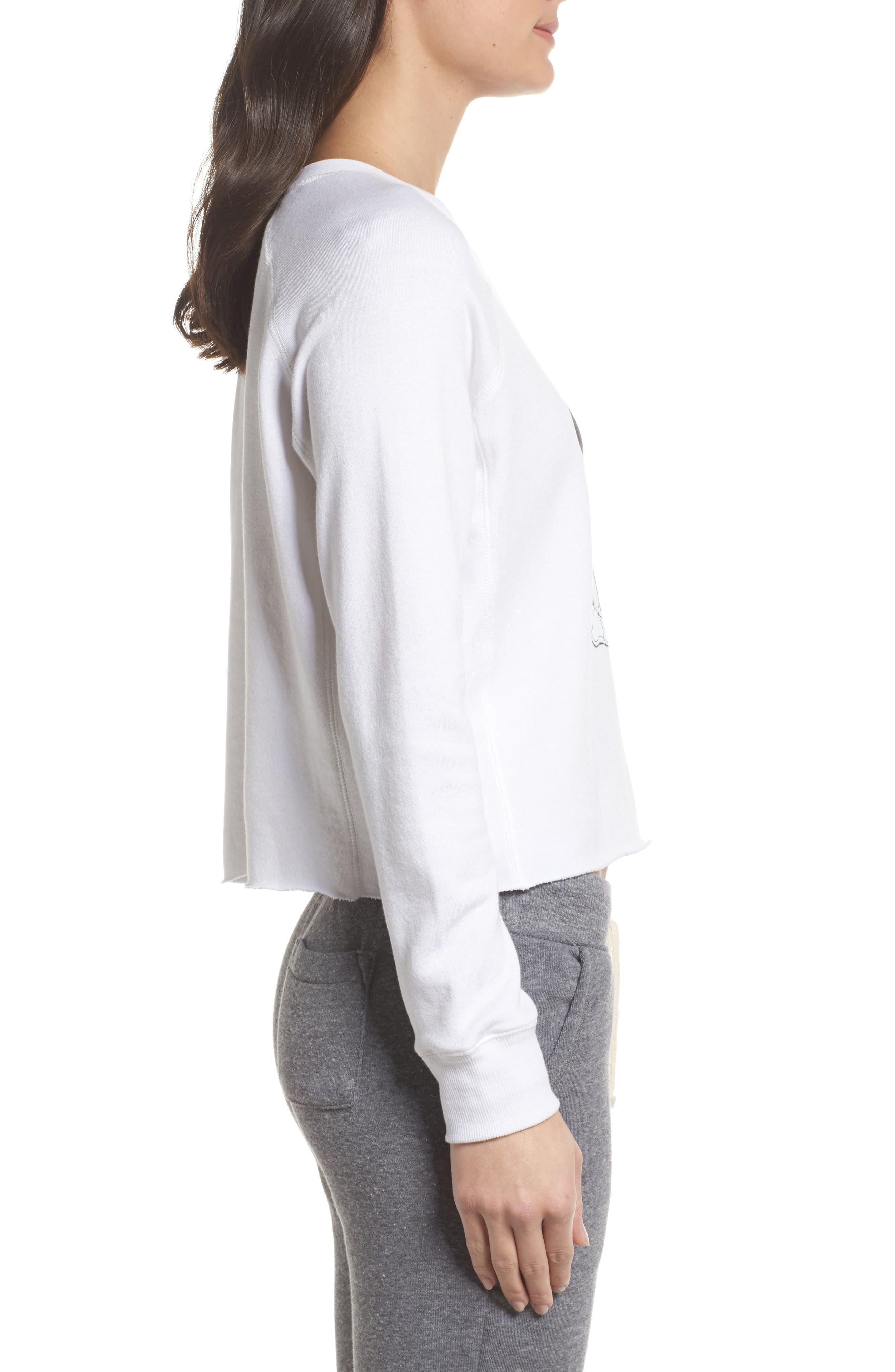Alternate Image 3  - David Lerner Mickey Mouse Crop Sweatshirt