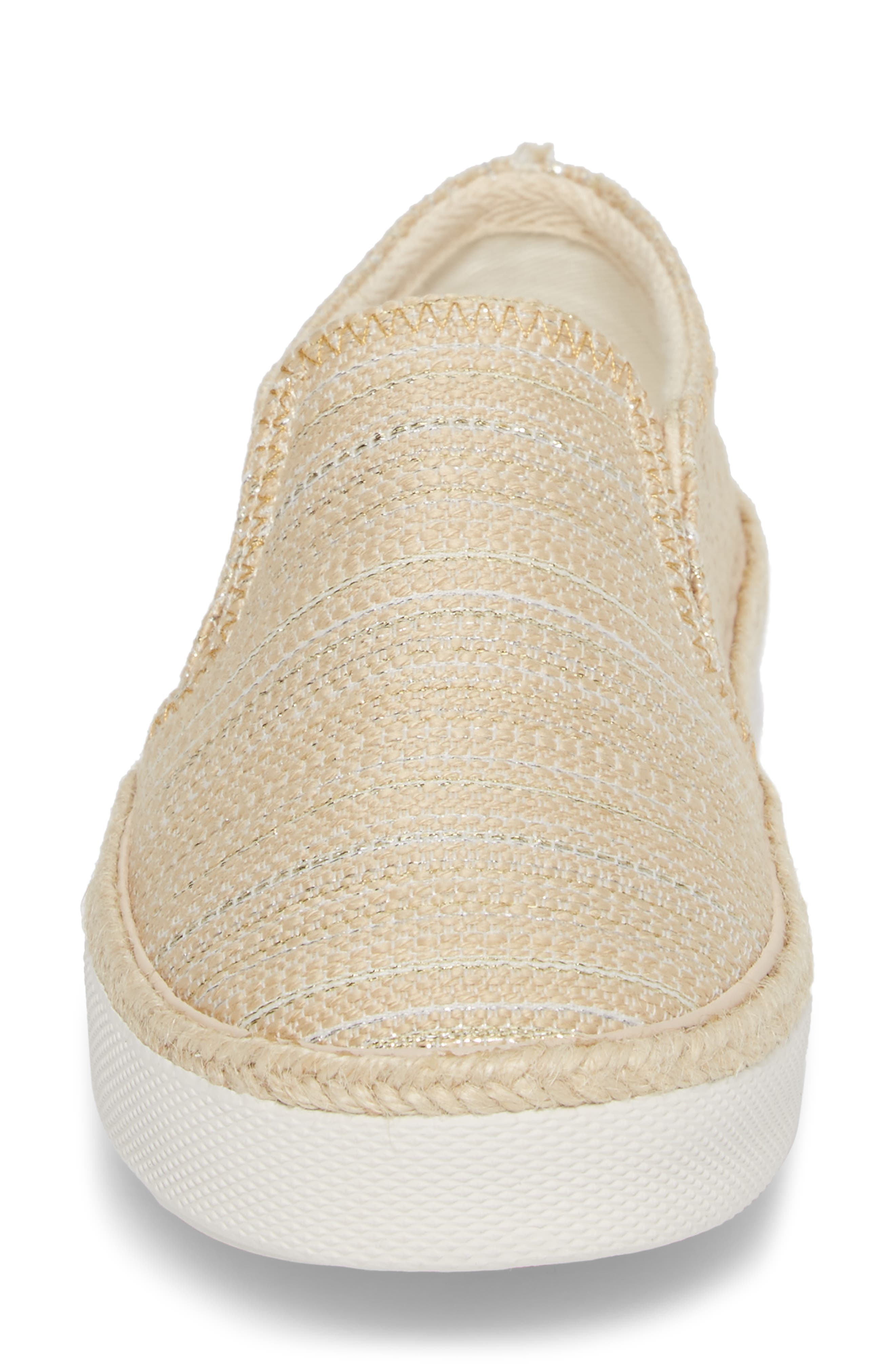 Tucker Slip-On Sneaker,                             Alternate thumbnail 4, color,                             Tan