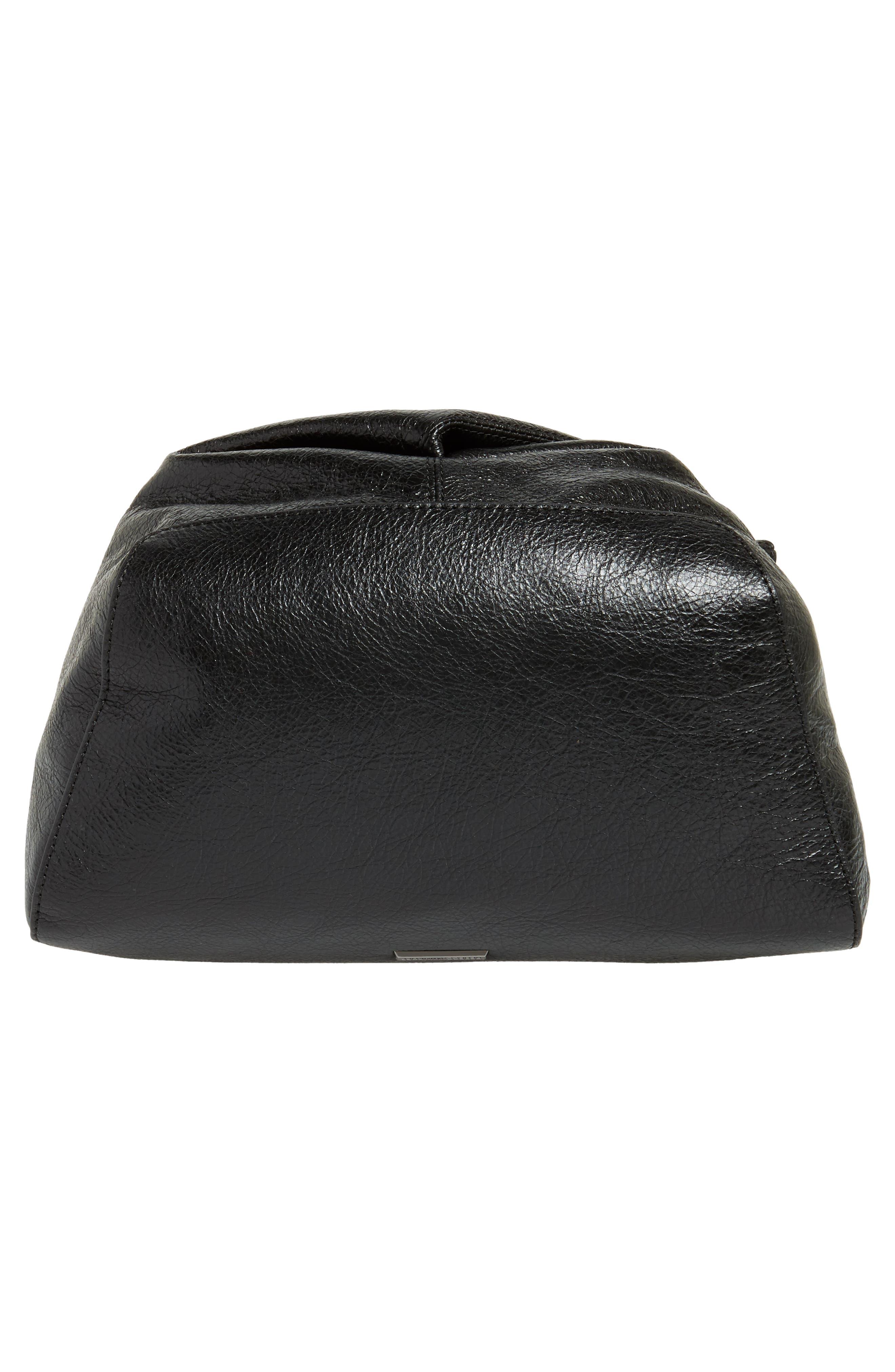 Jamie Leather Backpack,                             Alternate thumbnail 6, color,                             Black
