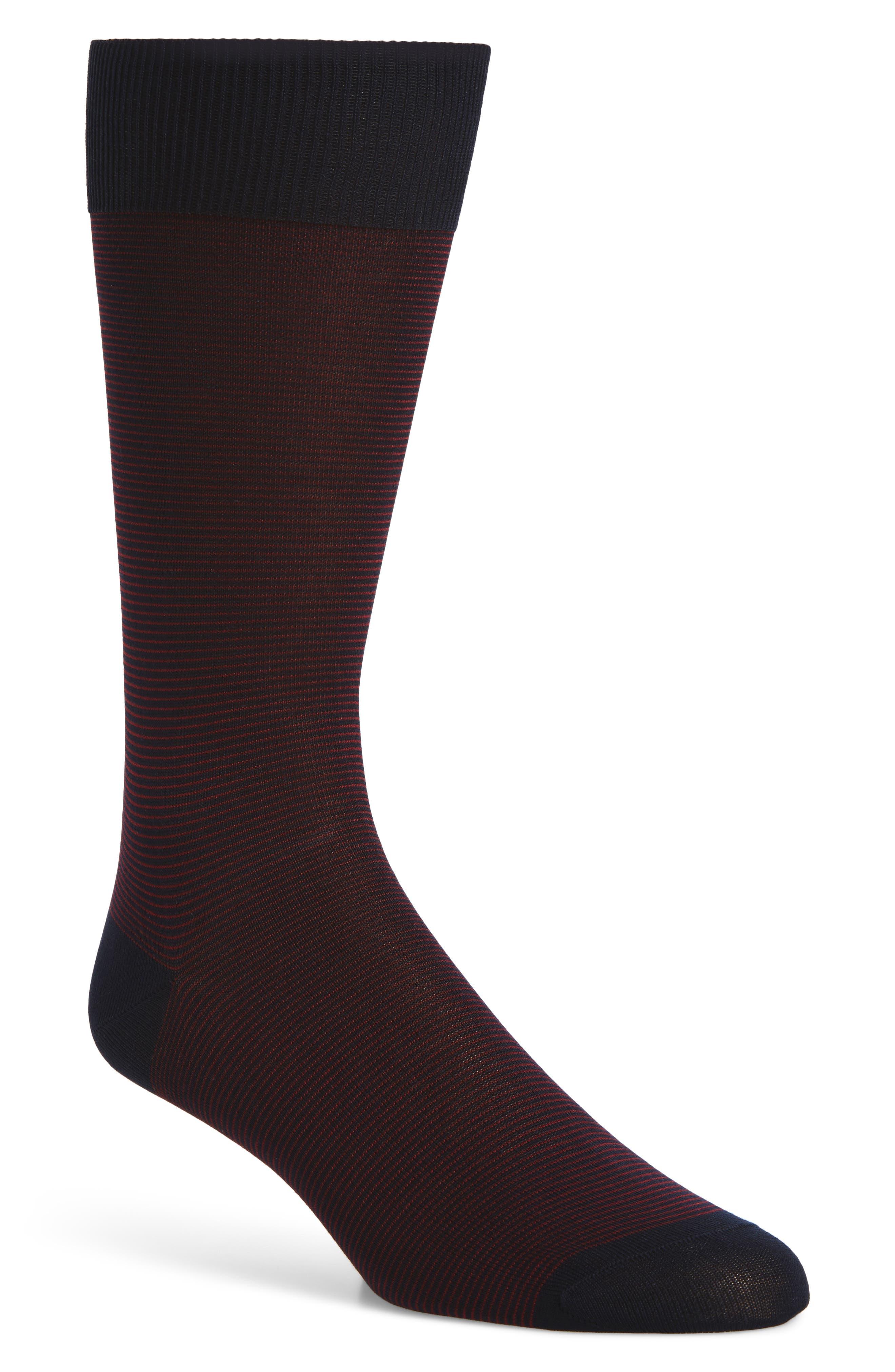 Microstripe Socks,                         Main,                         color, Navy
