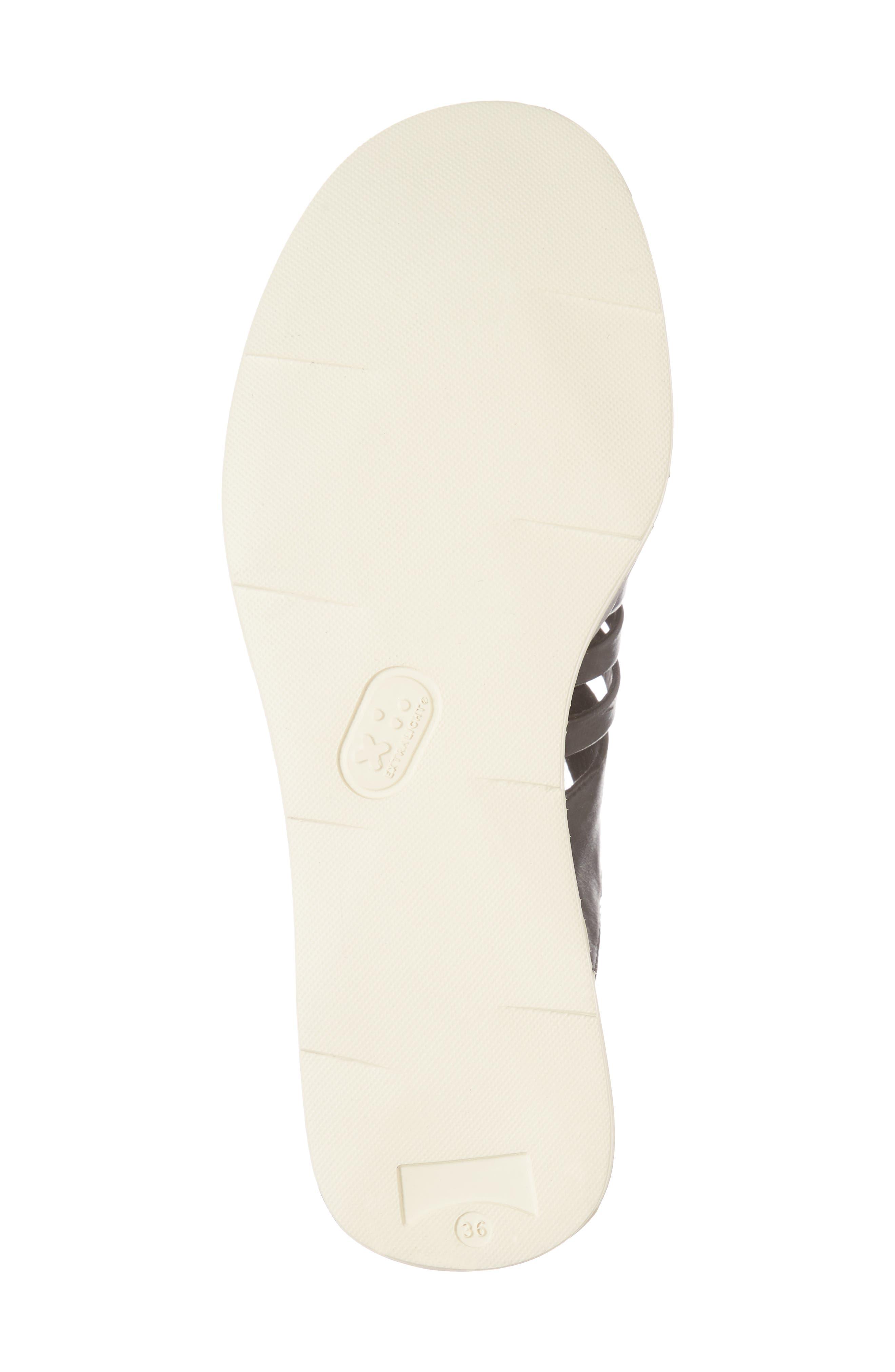 Tropik Strappy Wedge Sandal,                             Alternate thumbnail 6, color,                             Black Leather