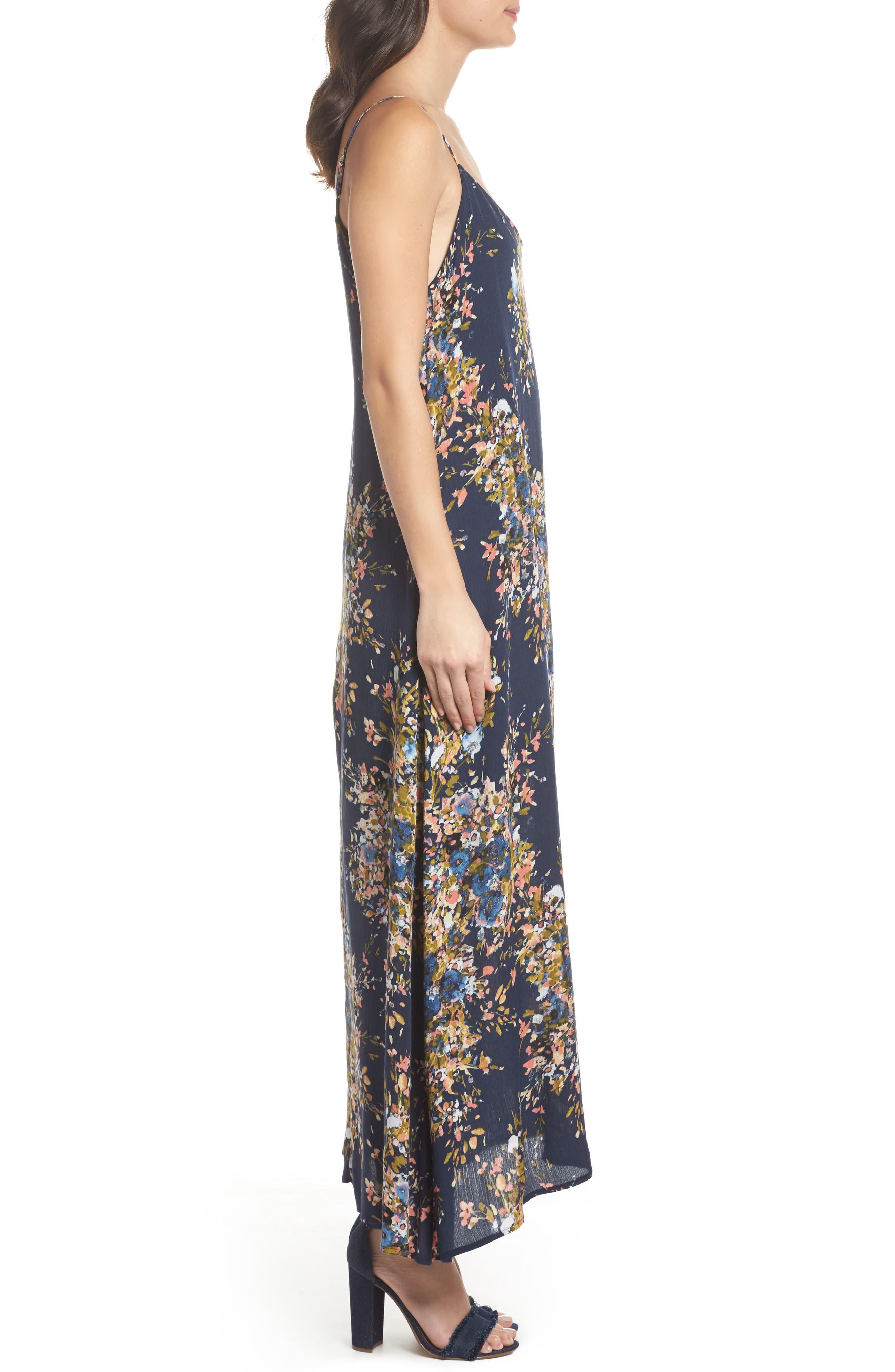 Maxi Dress,                             Alternate thumbnail 3, color,                             Freesia