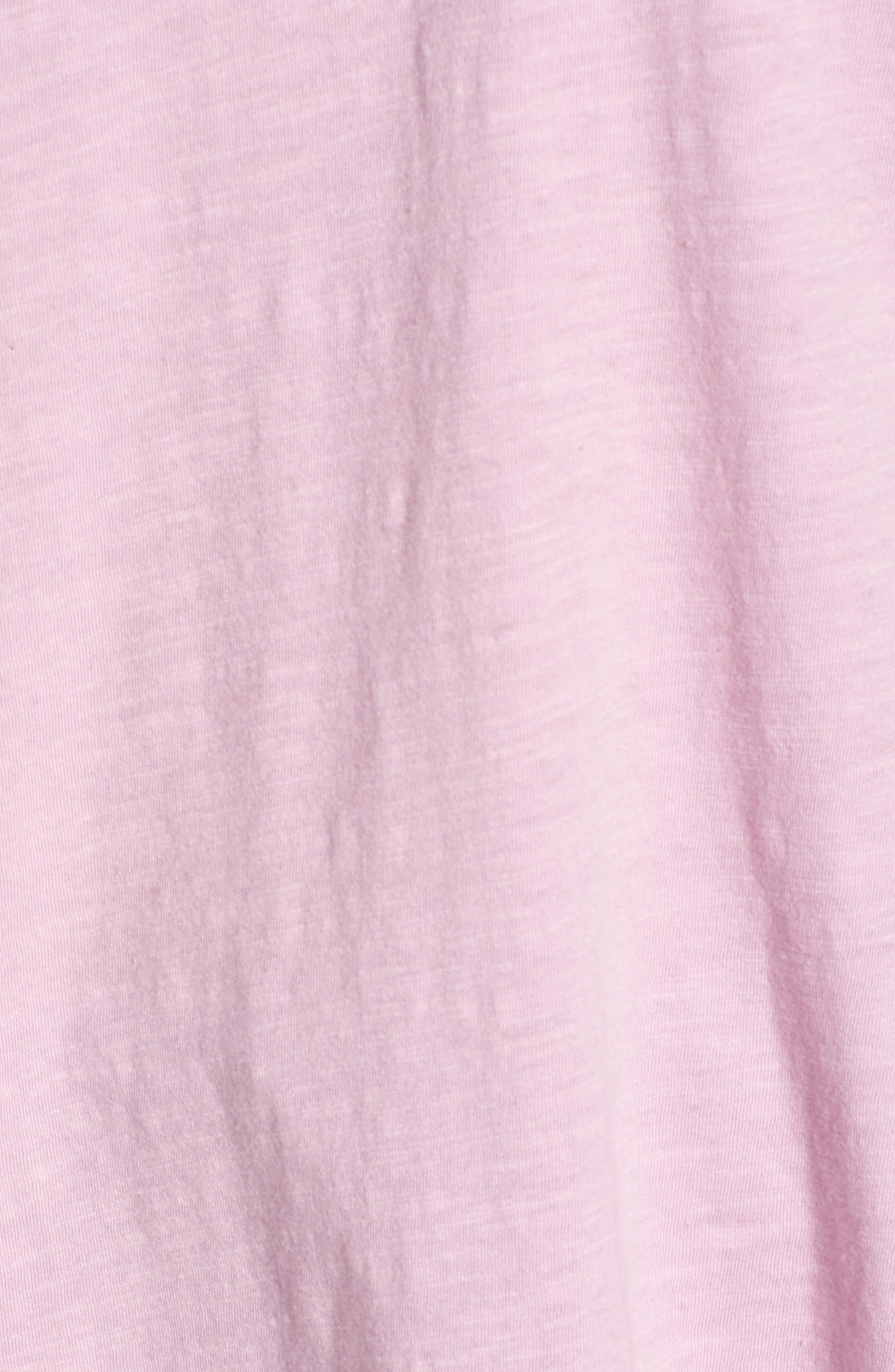 Organic Cotton V-Neck Tee,                             Alternate thumbnail 5, color,                             Quartz