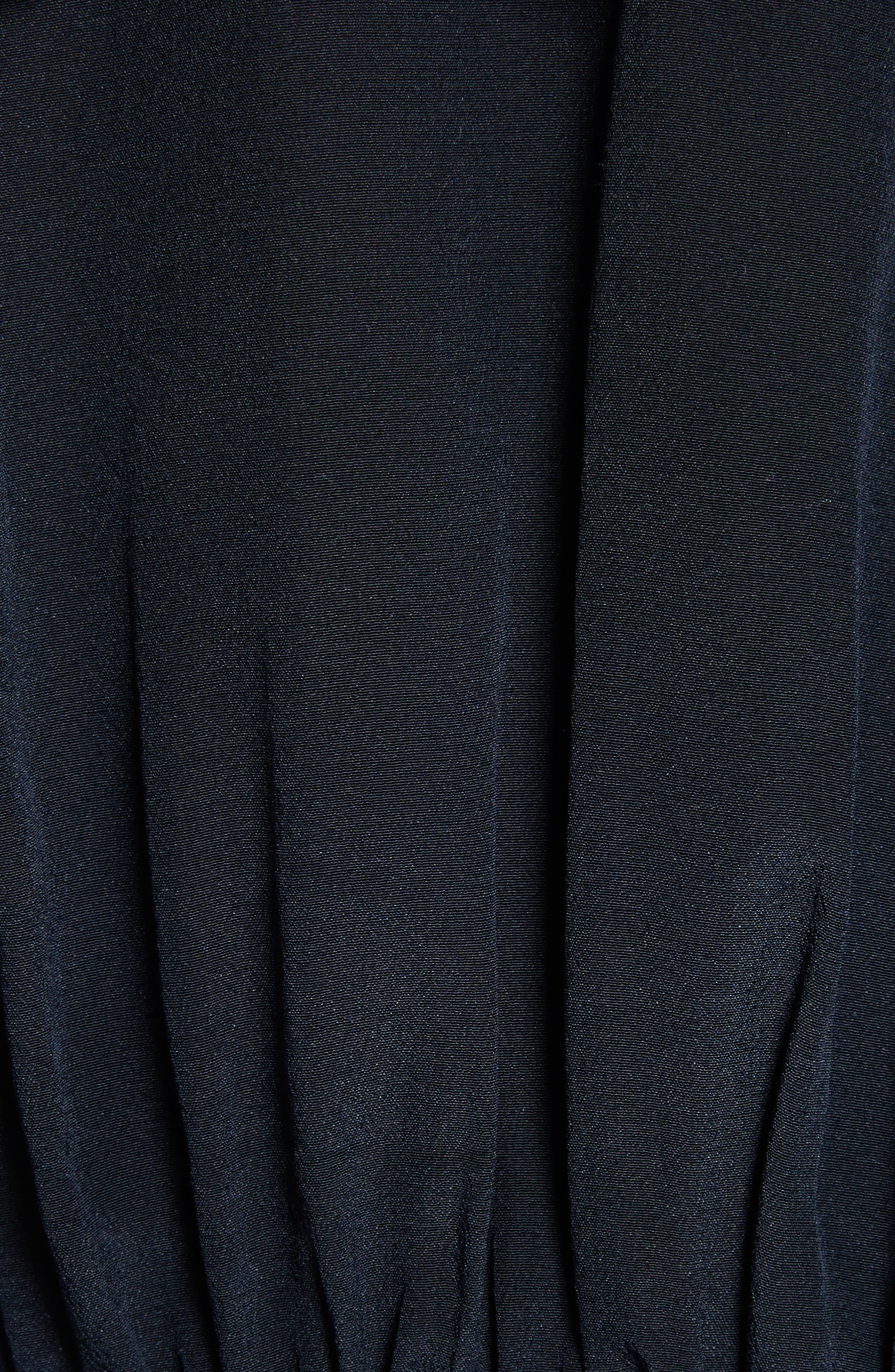 Peyton Tie Neck Silk Blouse,                             Alternate thumbnail 5, color,                             Navy