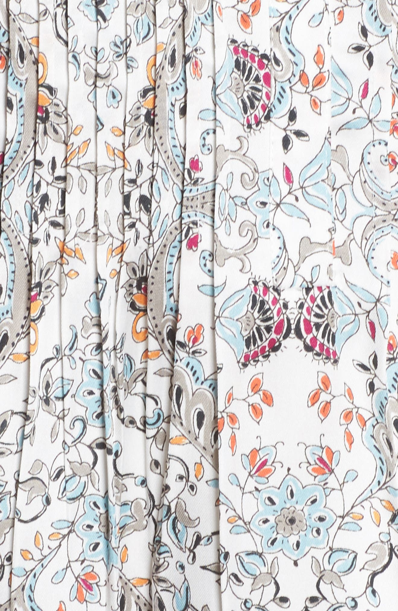 Lace Hem Floral Top,                             Alternate thumbnail 5, color,                             C804n Ivor