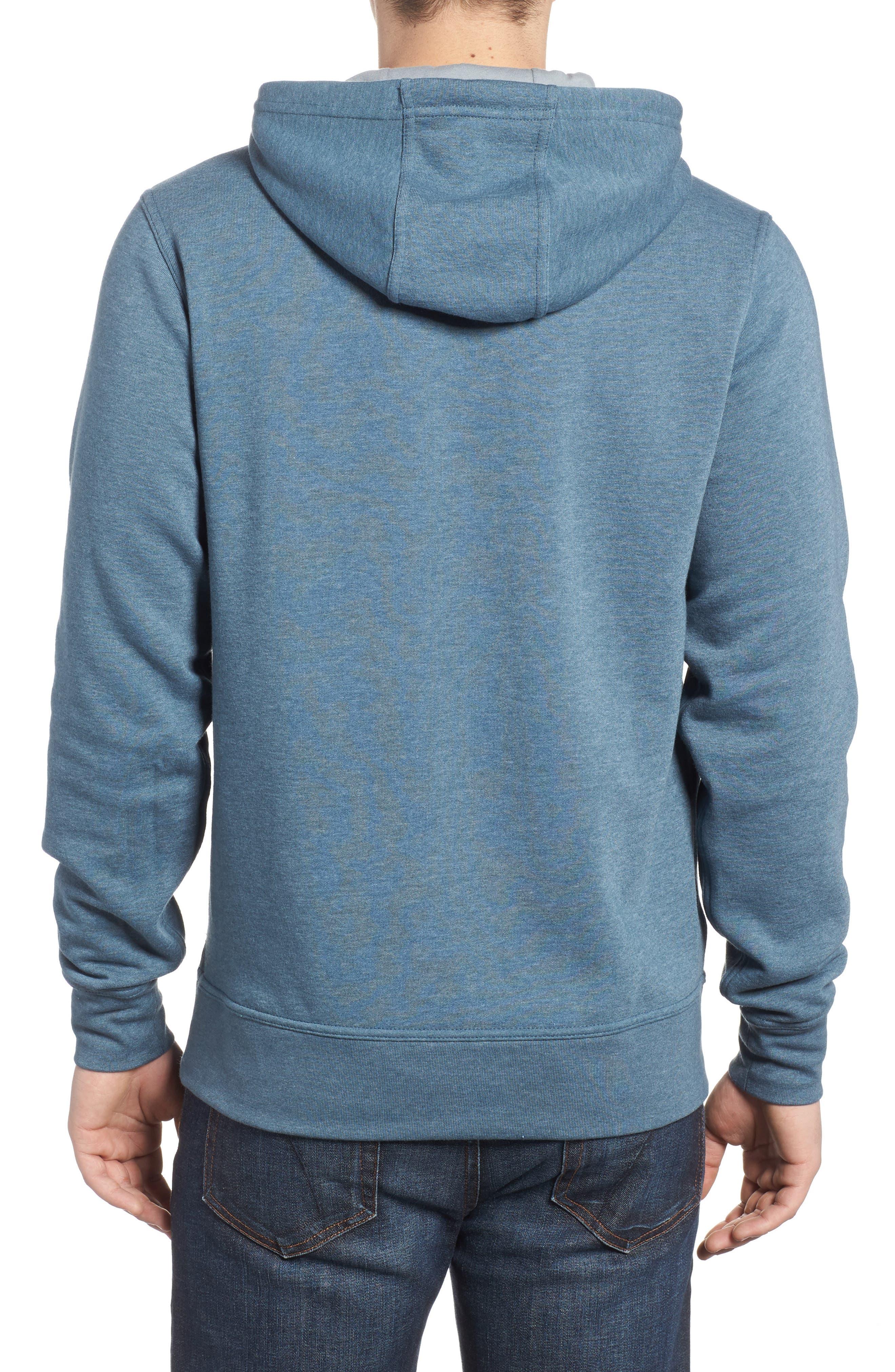 Half Dome Cotton Blend Hoodie,                             Alternate thumbnail 2, color,                             Conquer Blue / Monument Grey