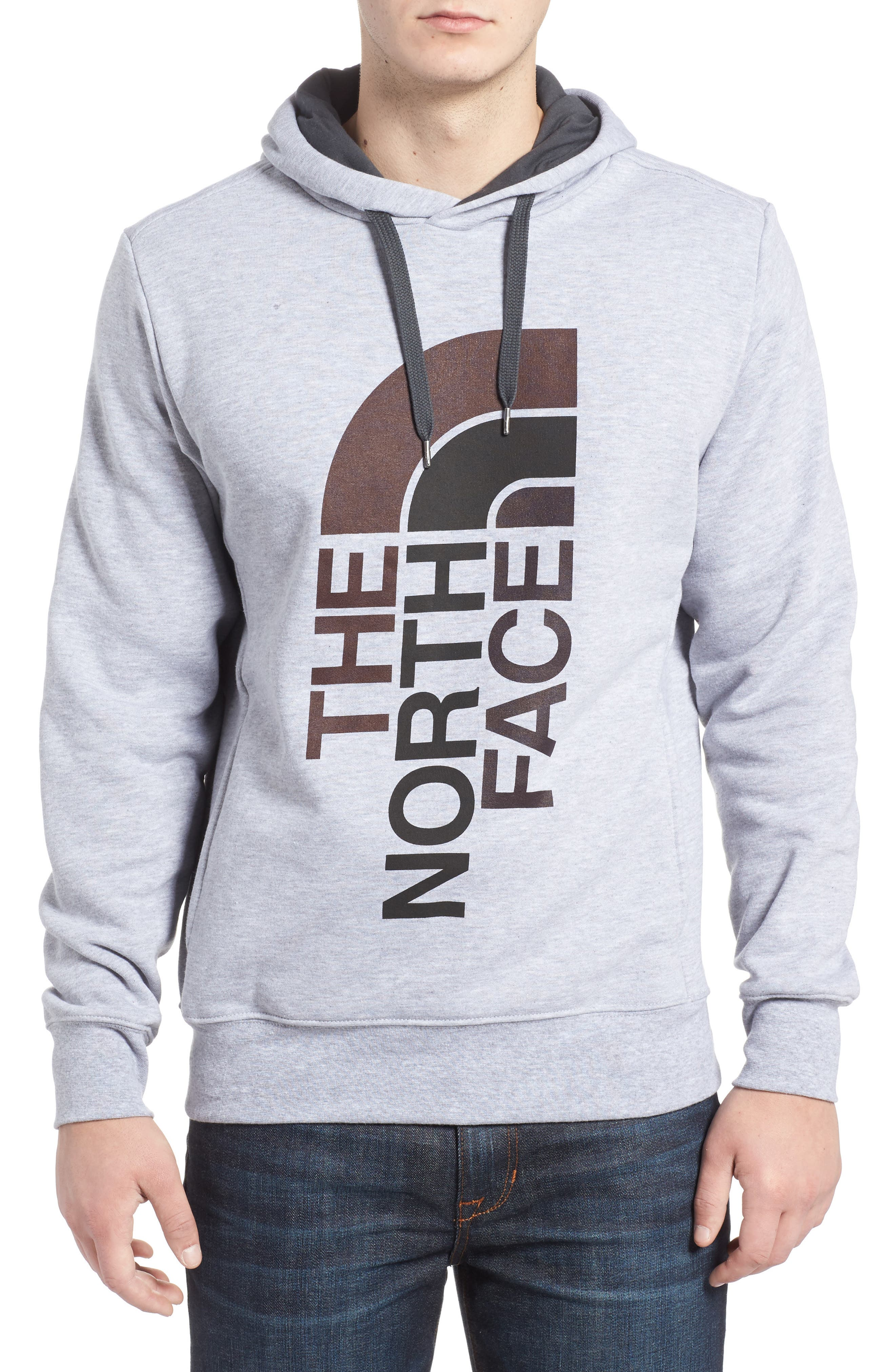 Trivert Cotton Blend Hoodie,                             Main thumbnail 1, color,                             Light Grey/ Asphalt Grey Multi