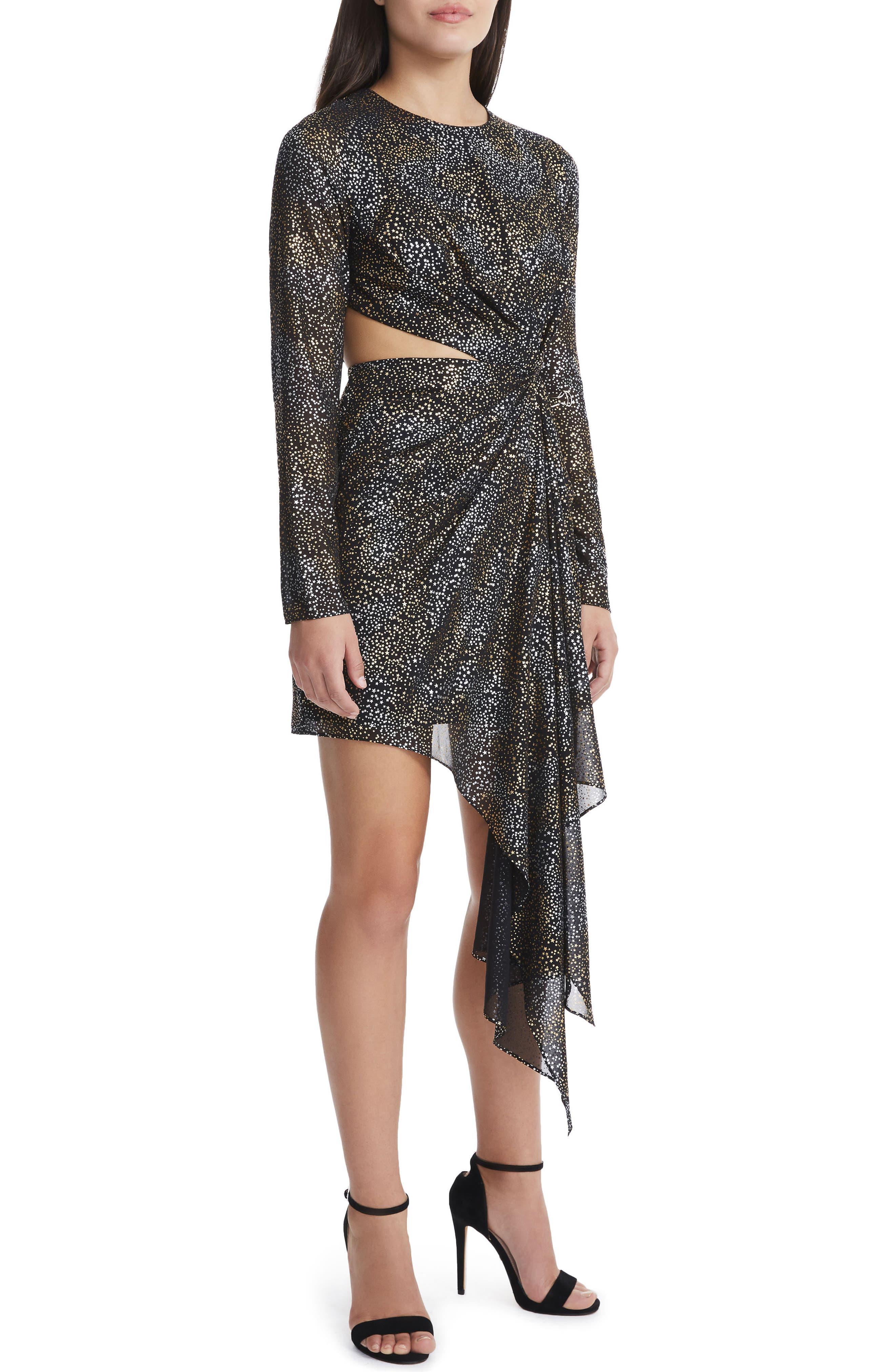 Alternate Image 4  - AFRM Amos Cutout Foil Print Dress