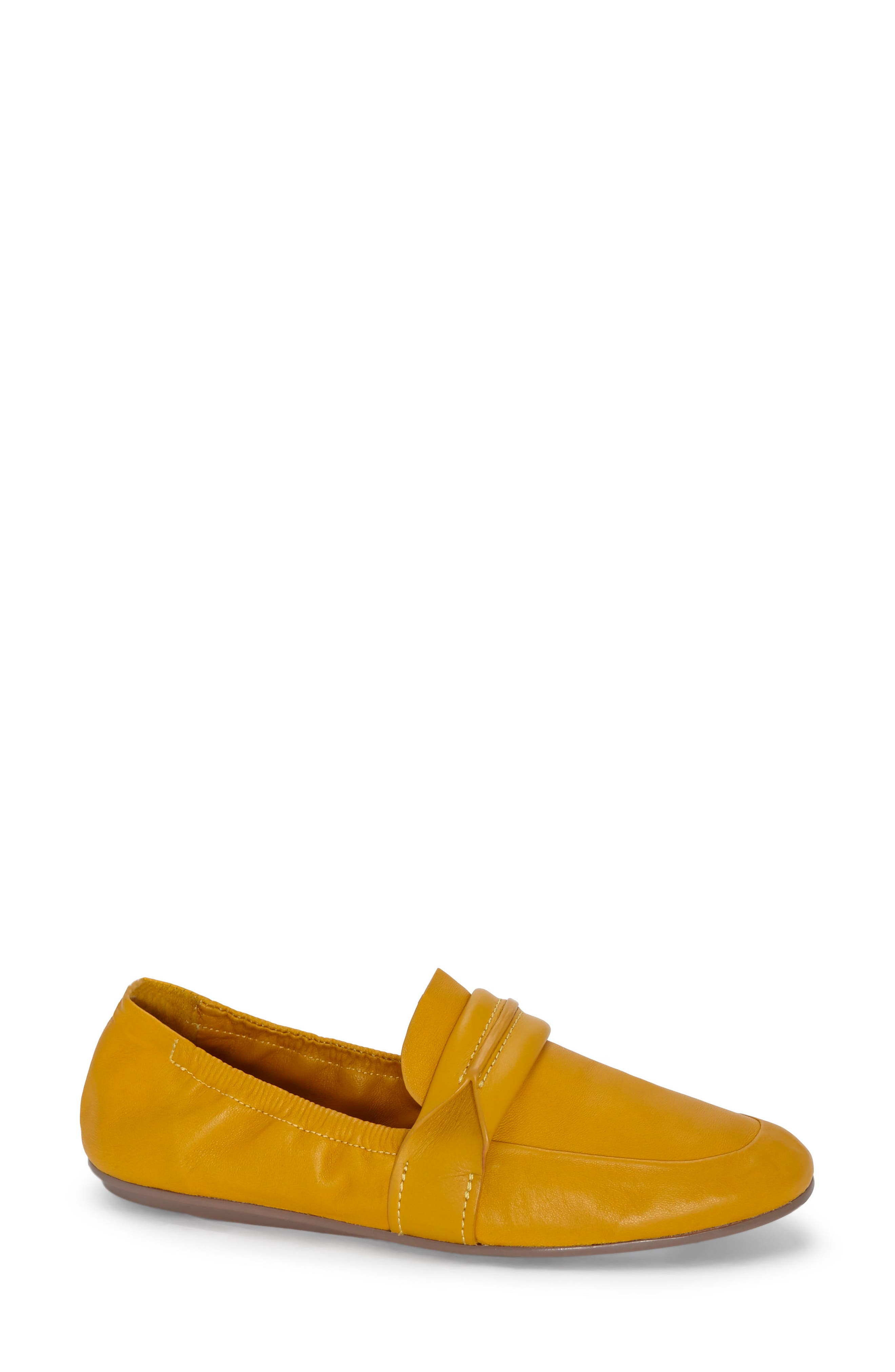 Erin Loafer Flat,                             Main thumbnail 1, color,                             Mustard