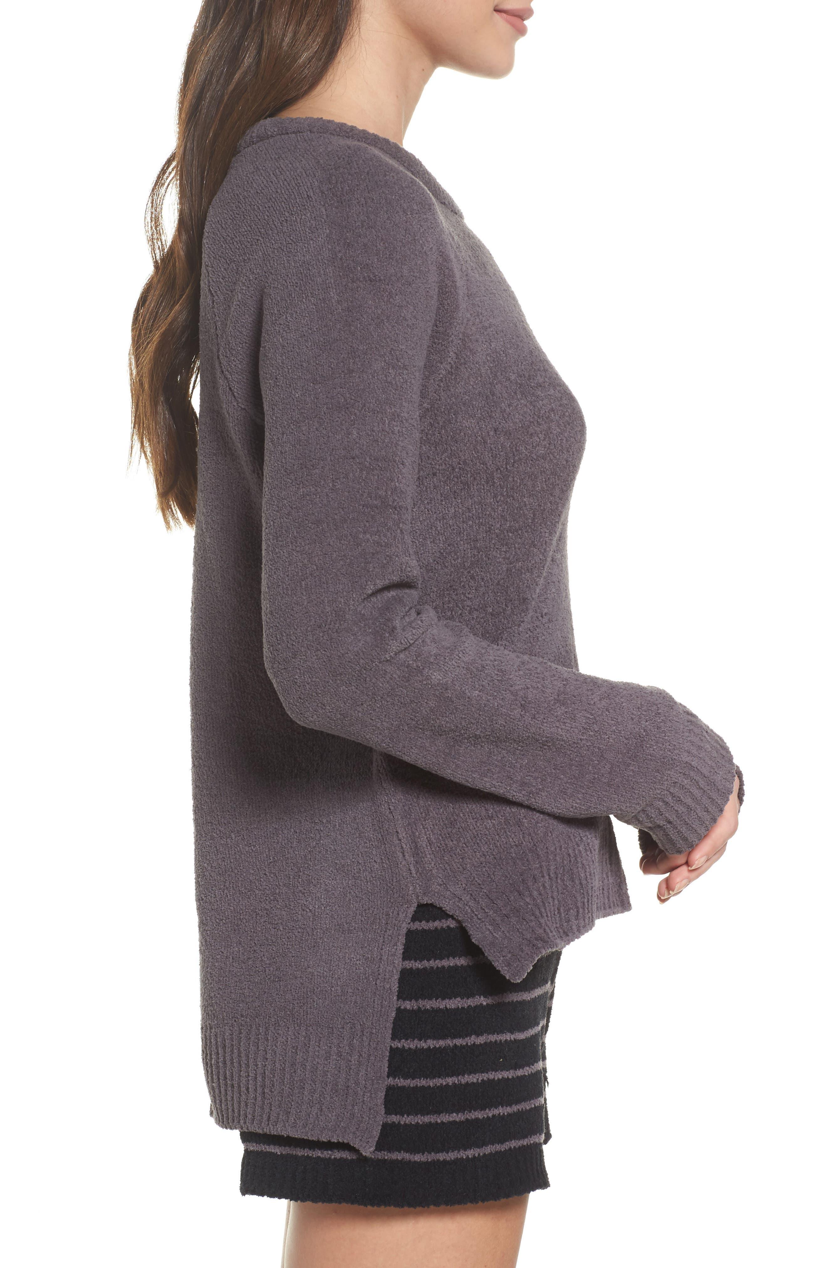 Marshmallow Sweatshirt,                             Alternate thumbnail 3, color,                             Charcoal