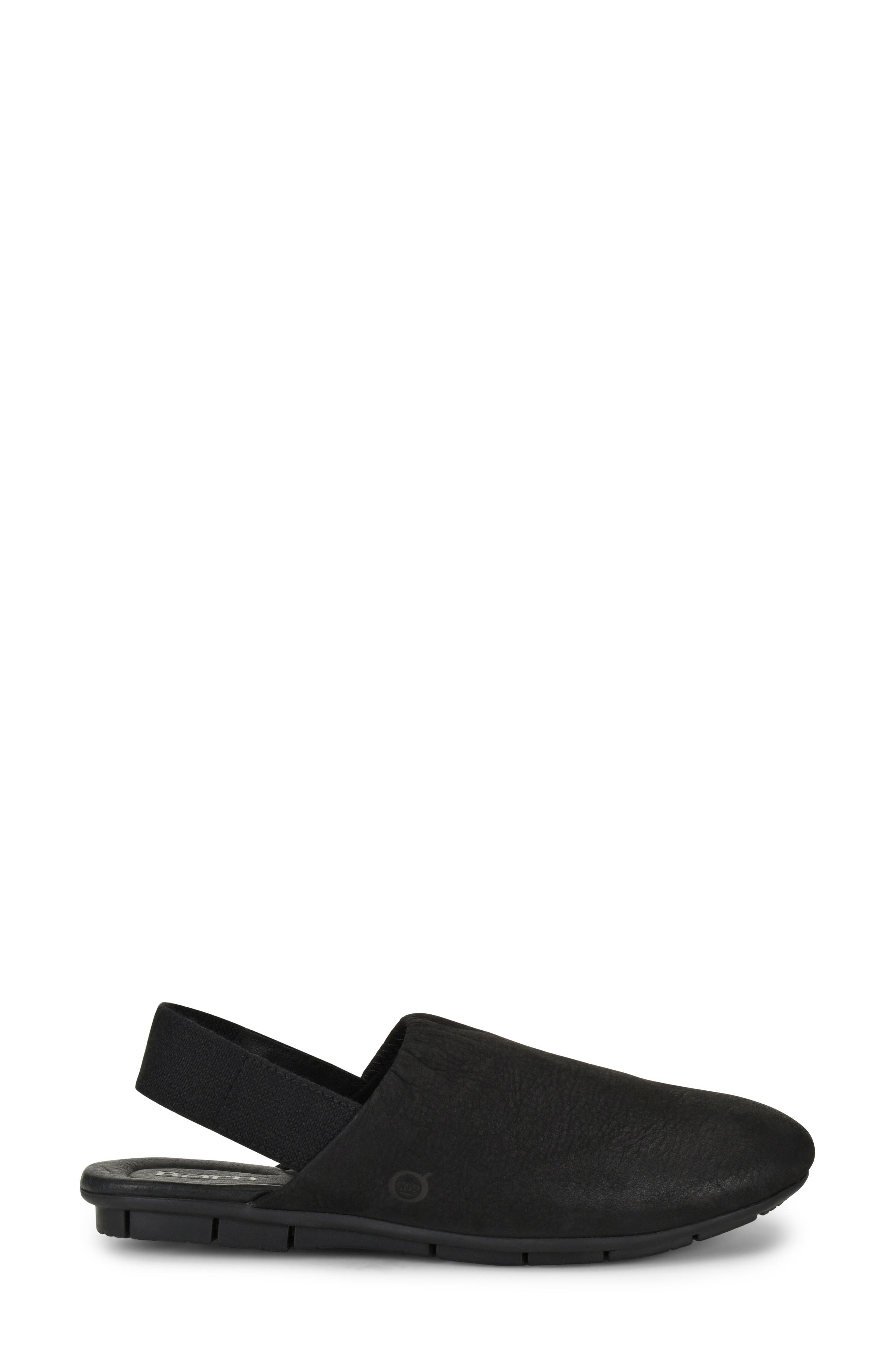 Bowe Slingback Flat,                             Alternate thumbnail 3, color,                             Black Nubuck
