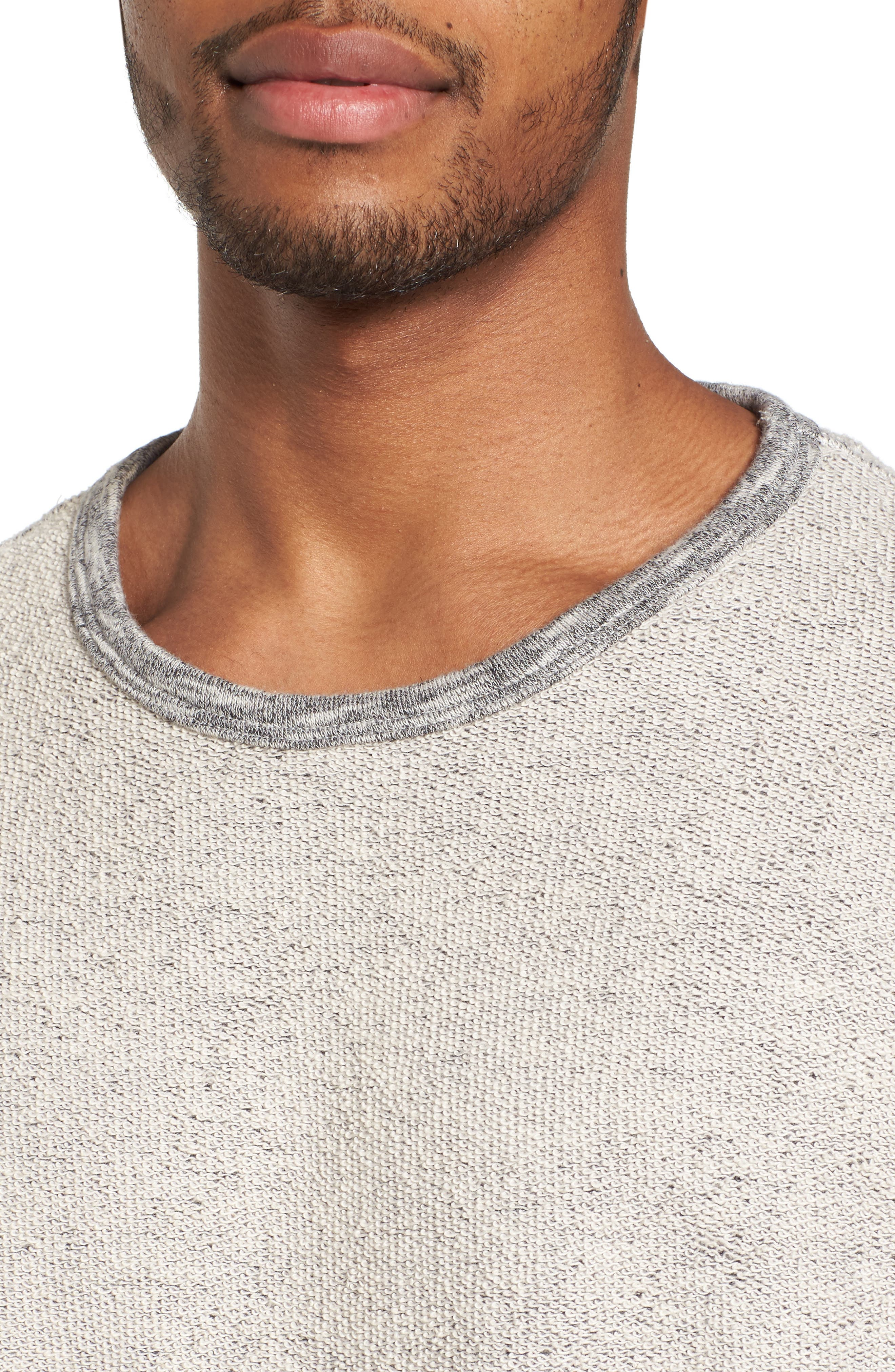 Reverse French Terry Sweatshirt,                             Alternate thumbnail 4, color,                             Grey