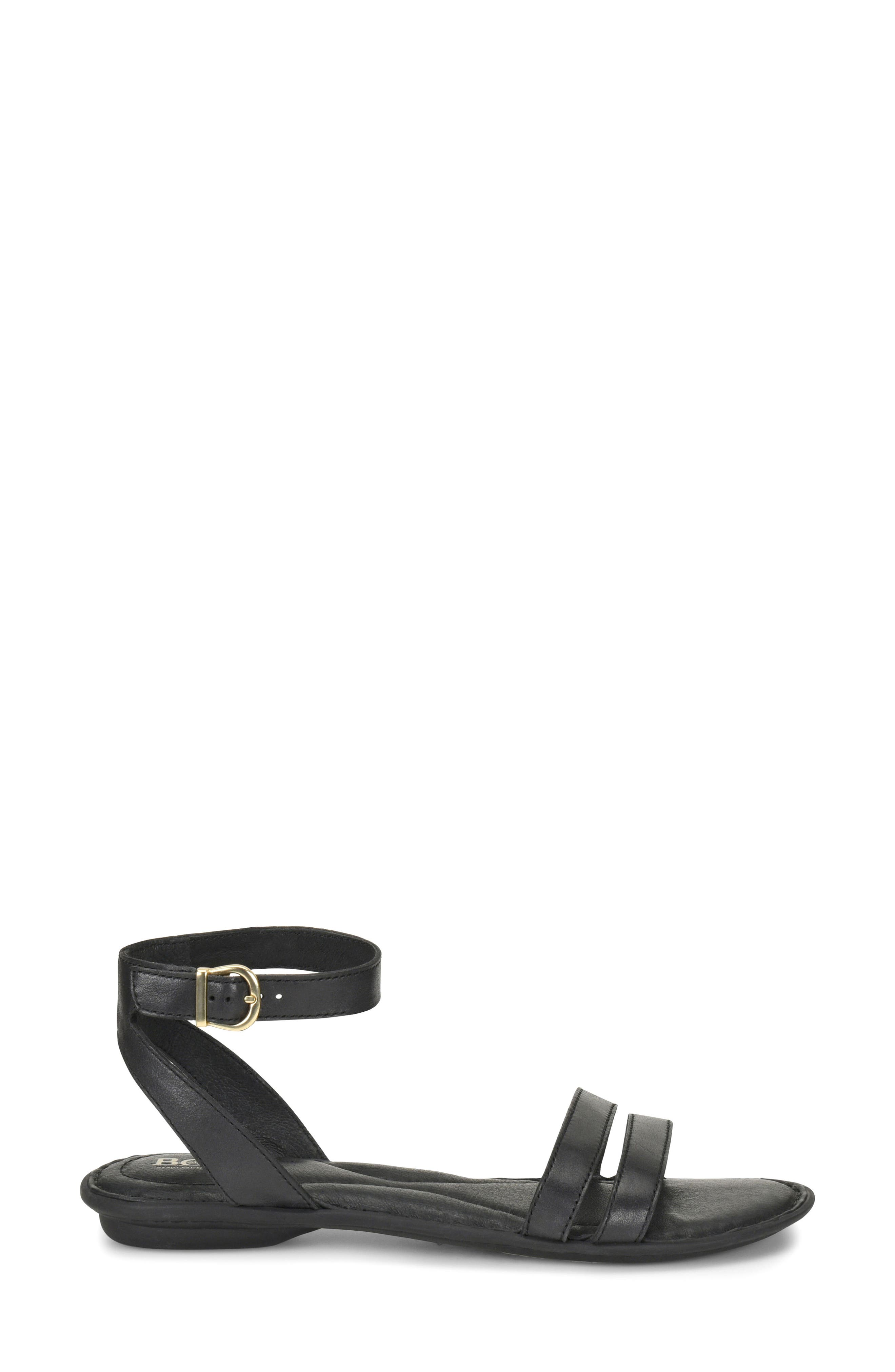 Mai Easy Sandal,                             Alternate thumbnail 3, color,                             Black Leather